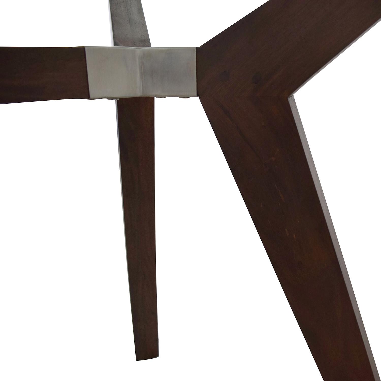 shop Crate & Barrel Strut Glass Top Table Crate & Barrel Dinner Tables