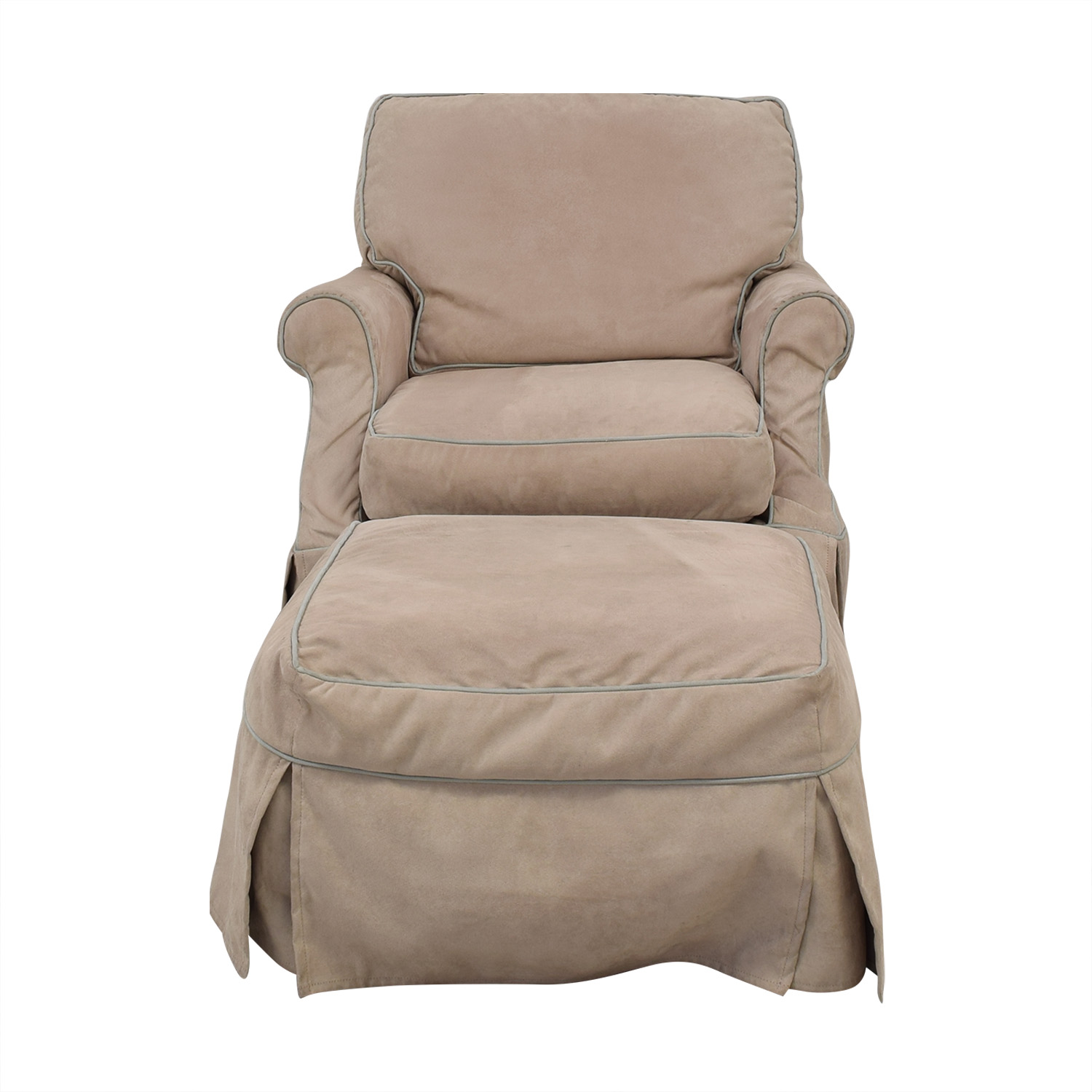 shop Robin Bruce Beatrix Slipcover Chair with Ottoman Robin Bruce Loveseats