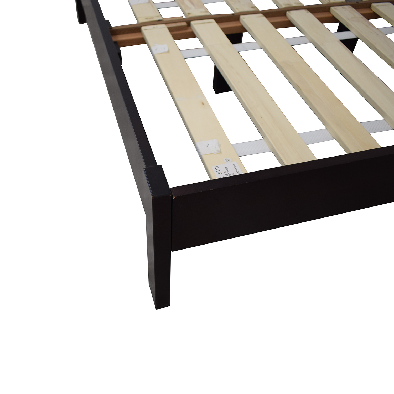 West Elm West Elm Low Wood Cutout Chocolate Veneer Bed Frame and Headboard coupon