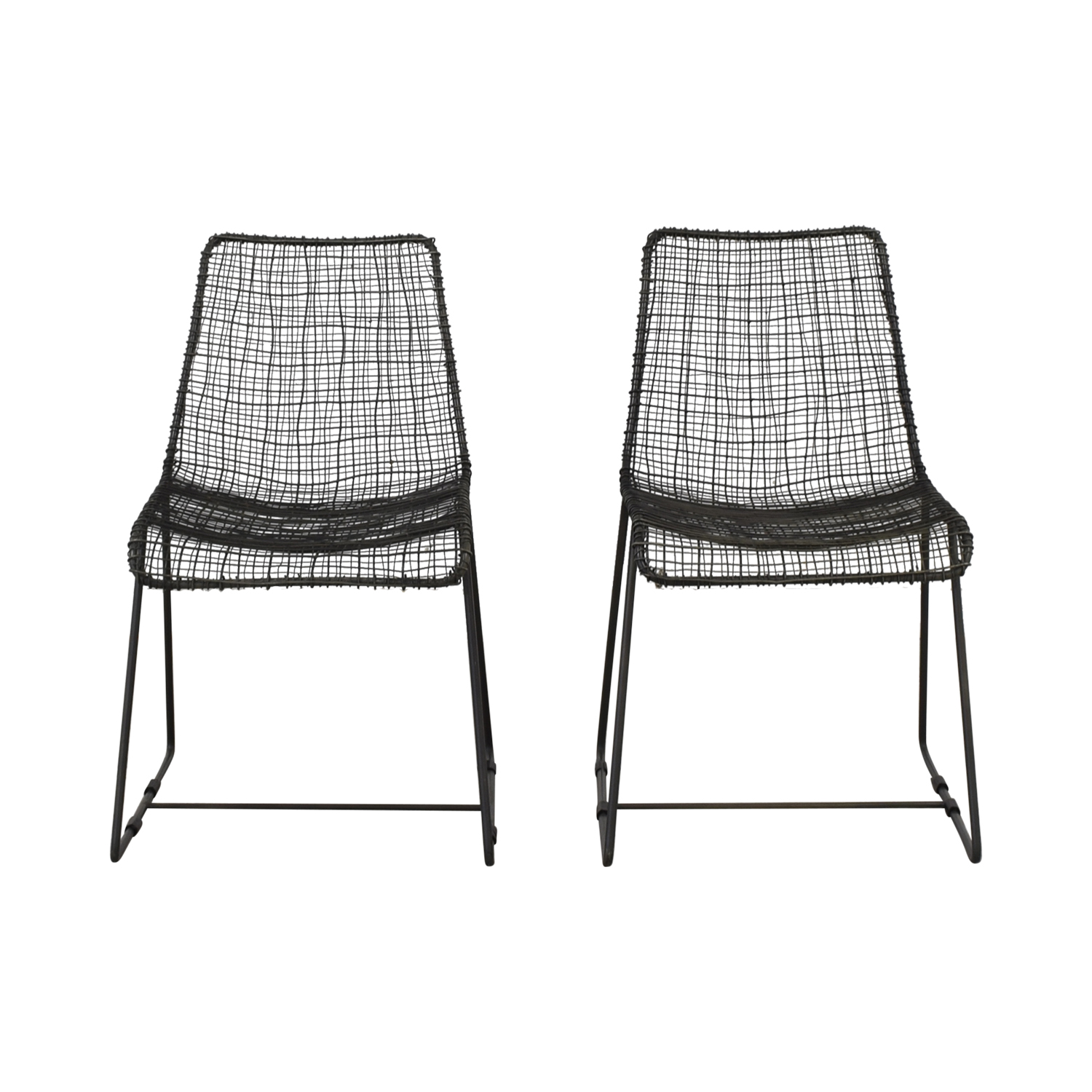 CB2 Reed Dining Chairs sale
