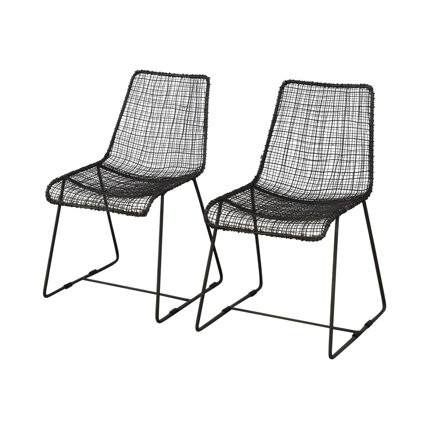 CB2 CB2 Reed Dining Chairs used