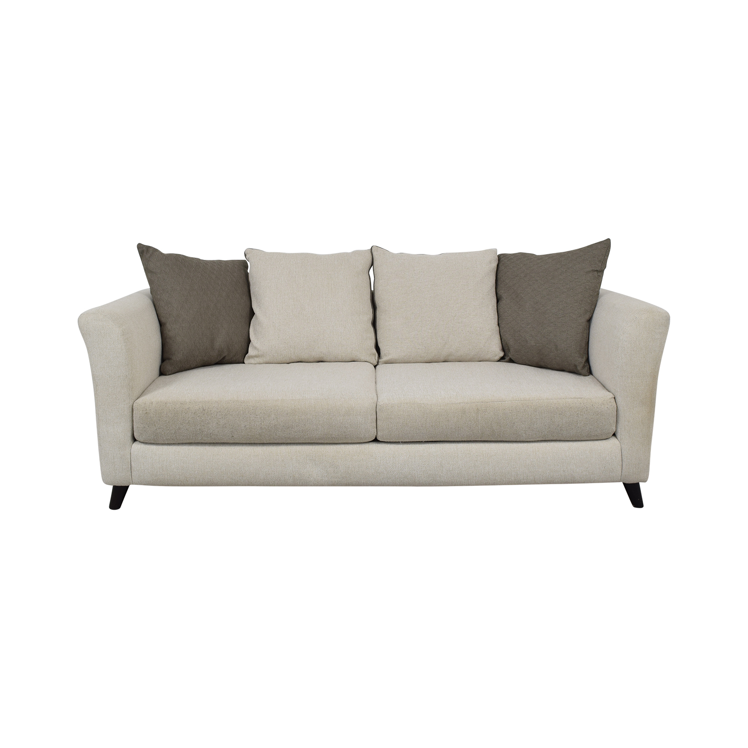 shop Raymour & Flanigan Plush Modern Sofa Raymour & Flanigan