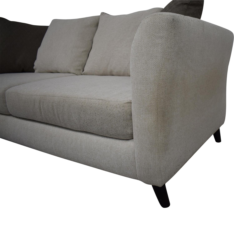 Raymour & Flanigan Raymour & Flanigan Plush Modern Sofa