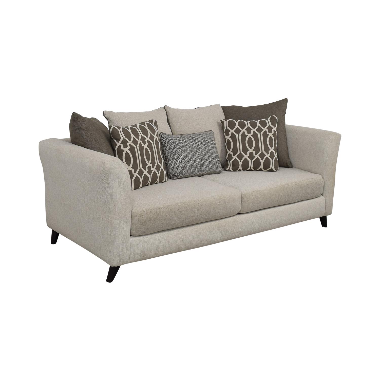 Raymour & Flanigan Raymour & Flanigan Plush Modern Sofa for sale