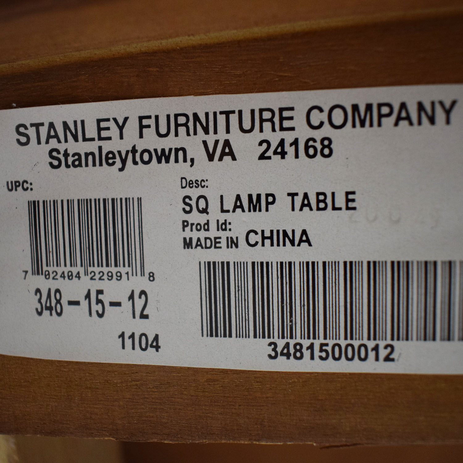 Stanley Furniture Stanley Furniture Square Lamp Table used