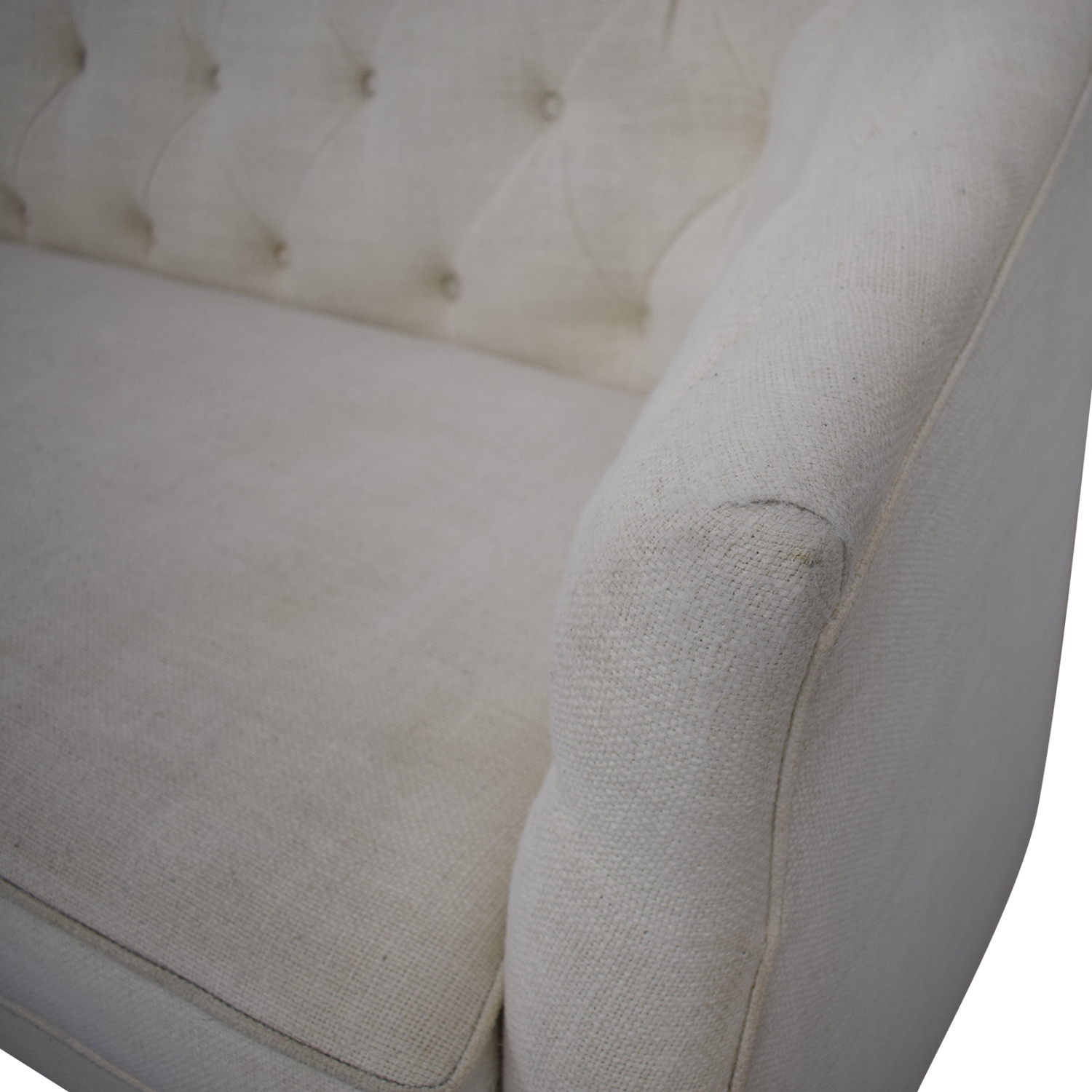 Z Gallerie Tufted Curved Tuxedo Sofa / Sectionals