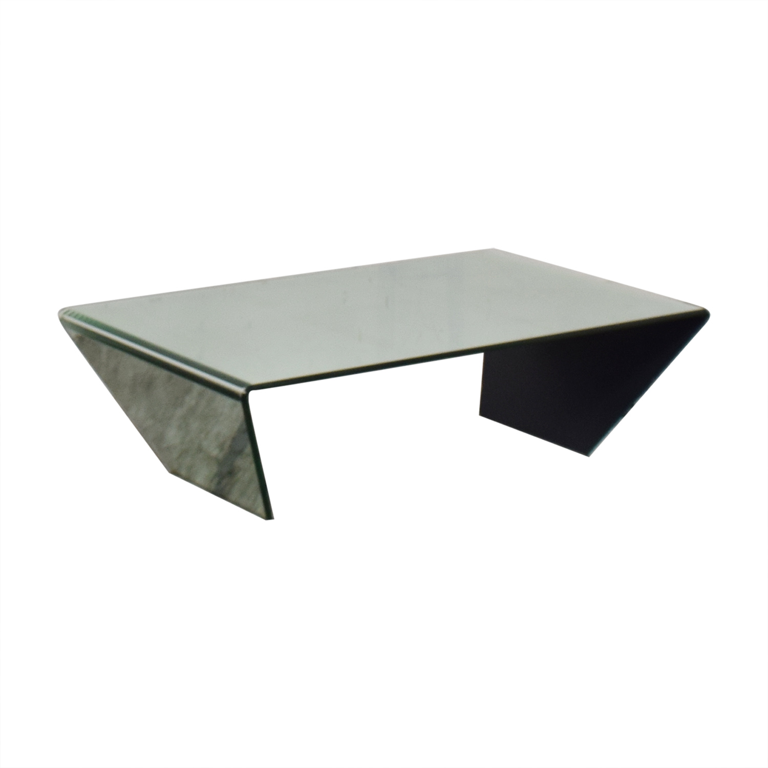 Bent Mirrored Coffee Table used