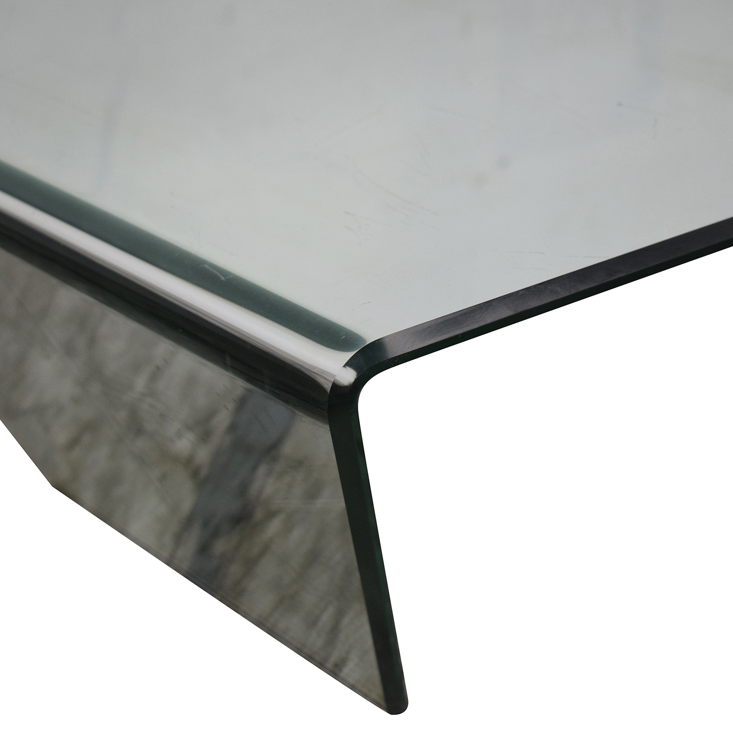 shop Bent Mirrored Coffee Table