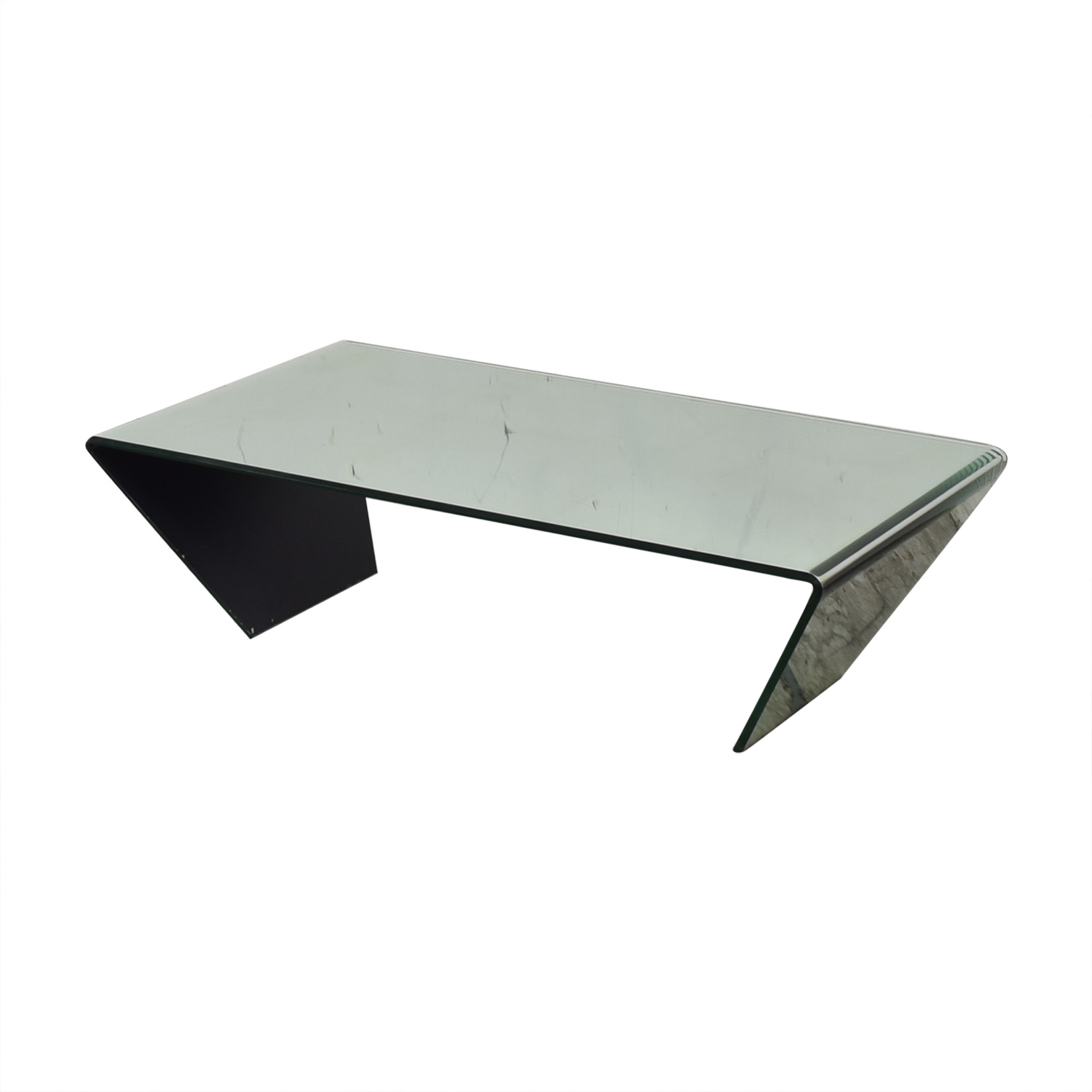 Bent Mirrored Coffee Table