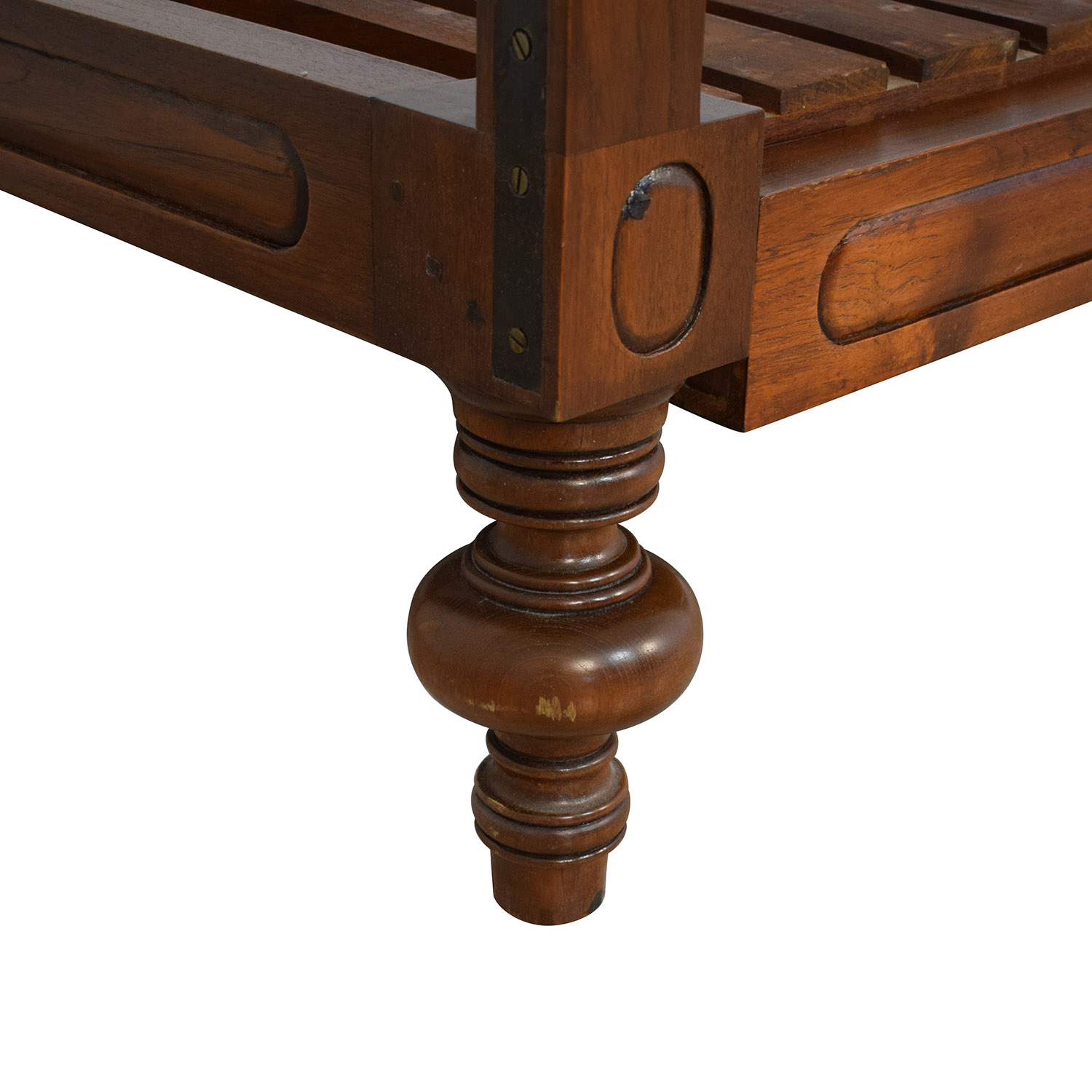 Colonial Cane Sleigh Bed Twin