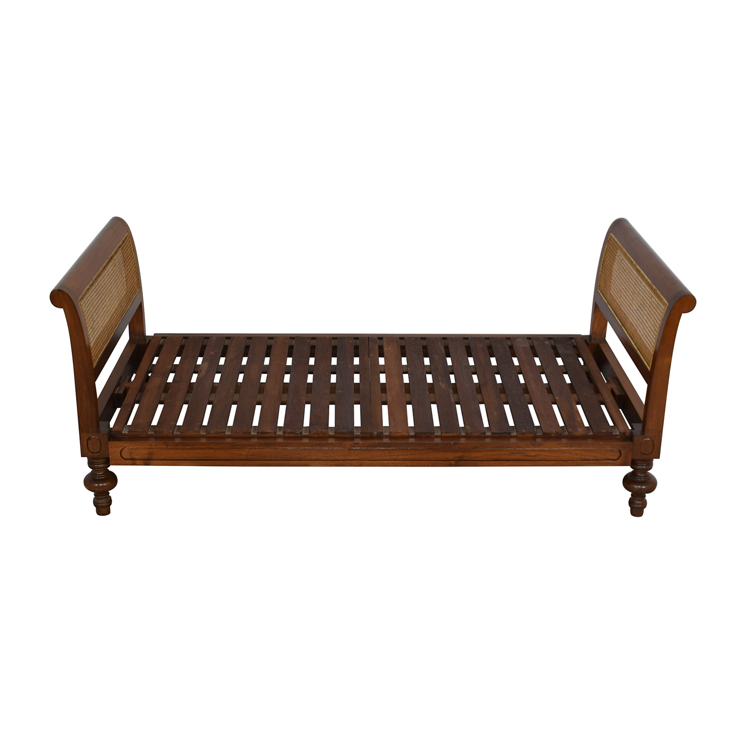 Colonial Cane Sleigh Bed Twin / Beds