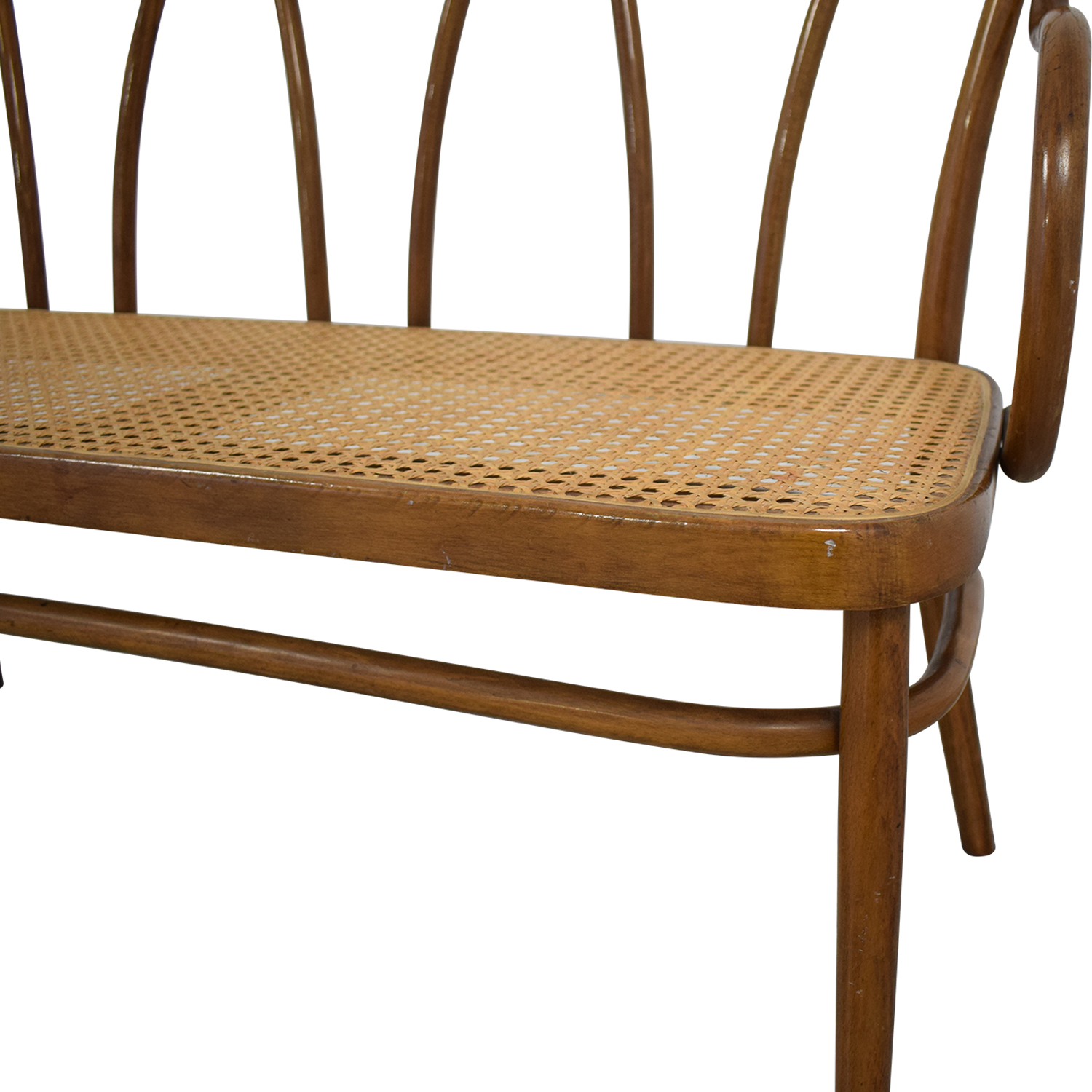 shop Thonet Bentwood Cane Bistro Bench Thonet Chairs