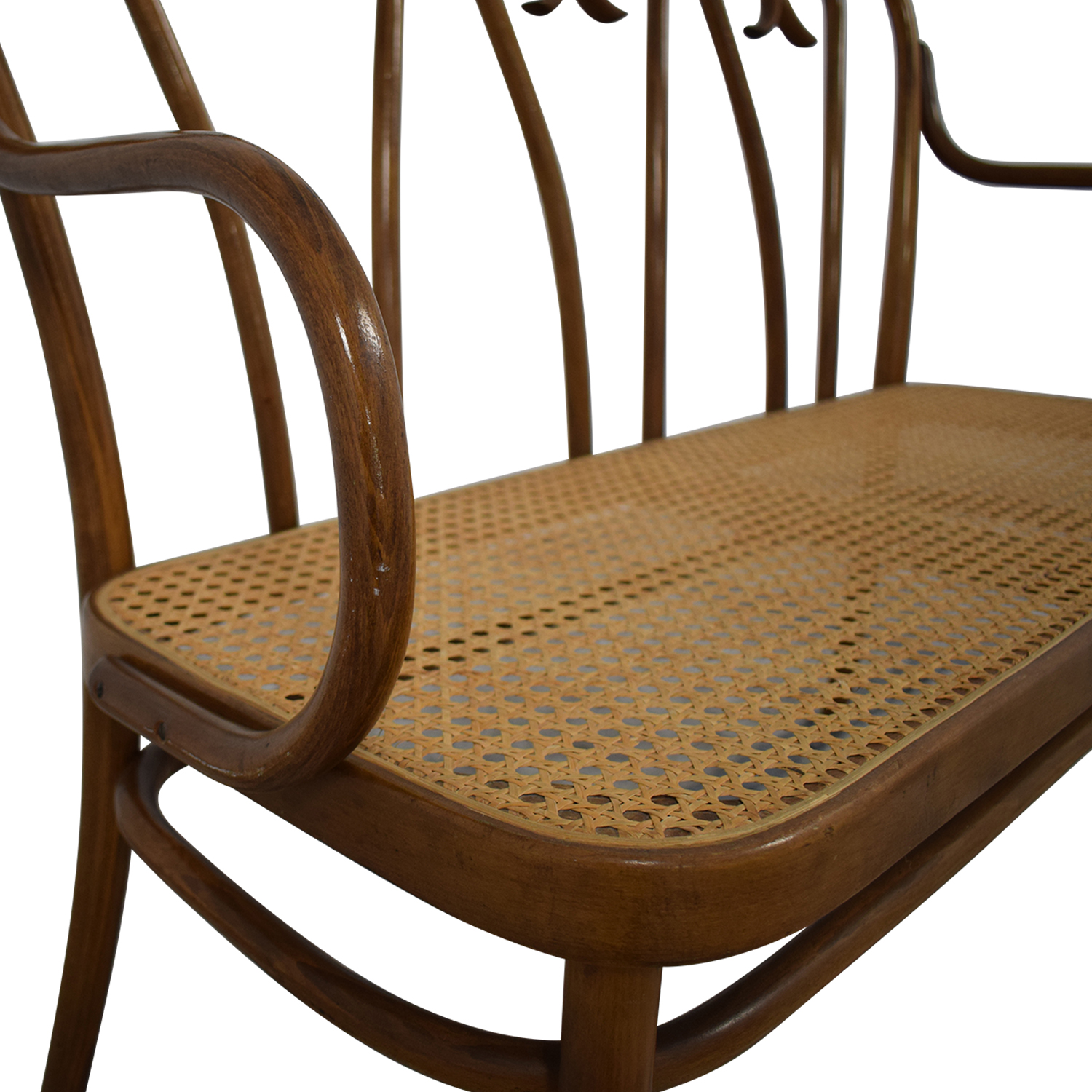 Thonet Bentwood Cane Bistro Bench Thonet