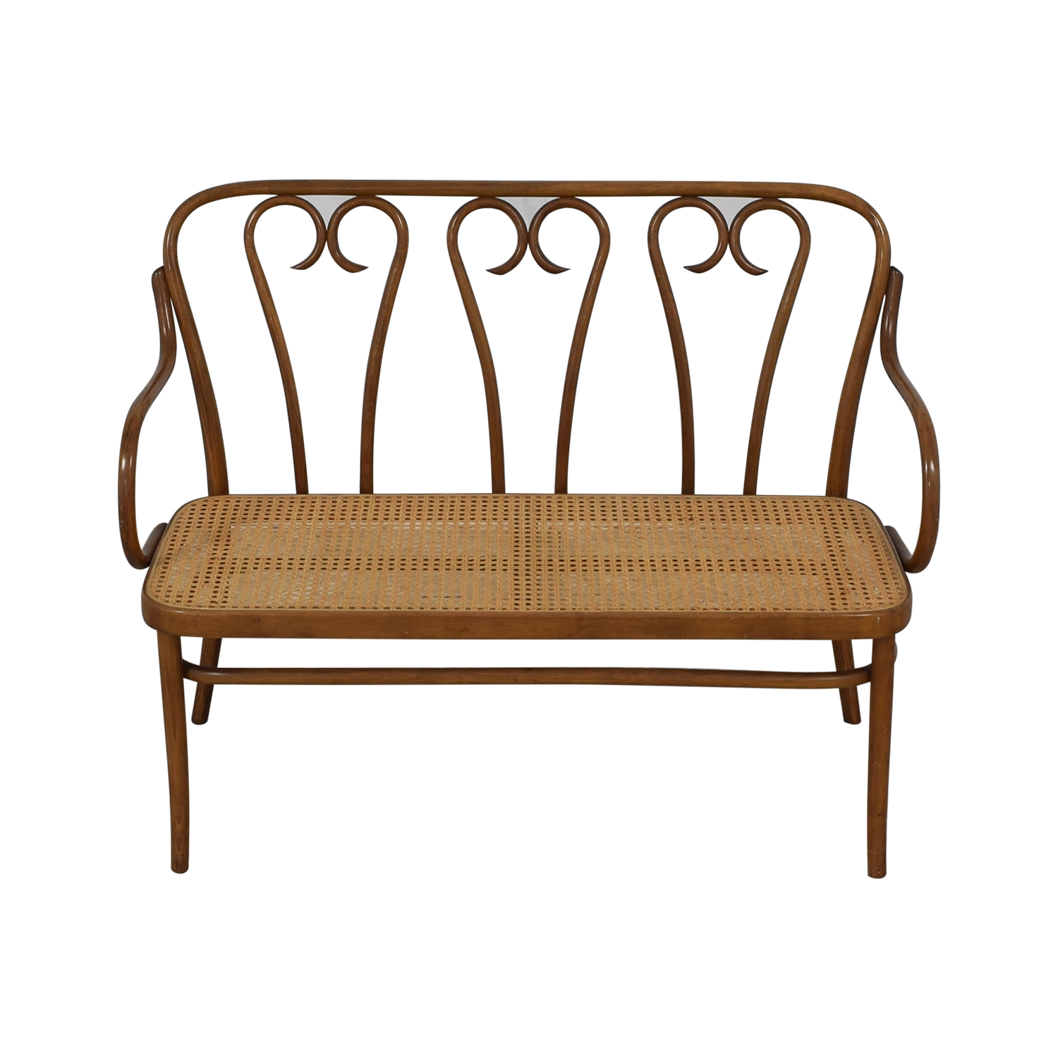 Thonet Thonet Bentwood Cane Bistro Bench discount