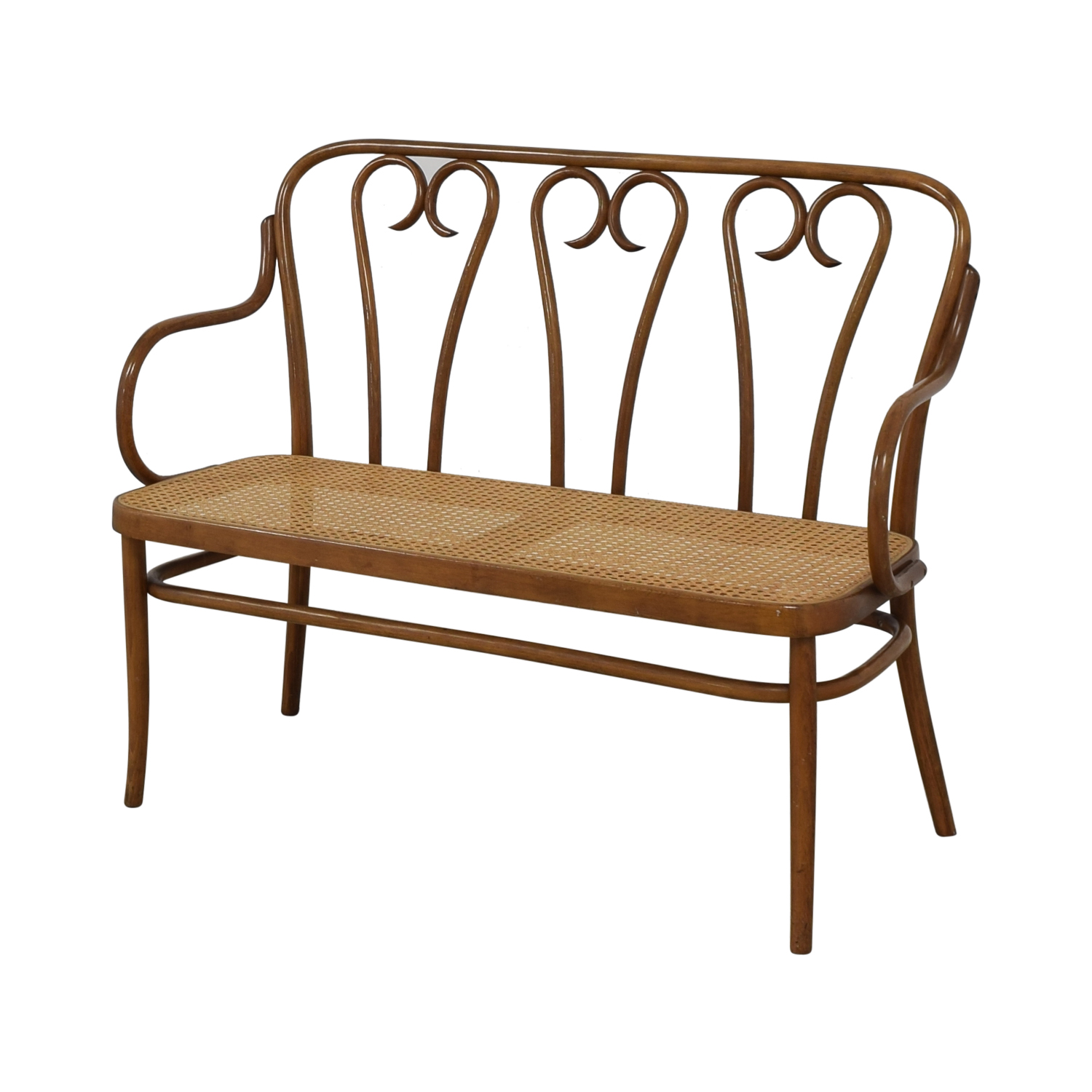Thonet Thonet Bentwood Cane Bistro Bench
