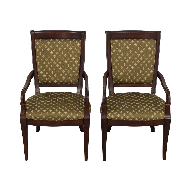 buy Bassett Furniture Upholstered Dining Arm Chairs Bassett Furniture Dining Chairs