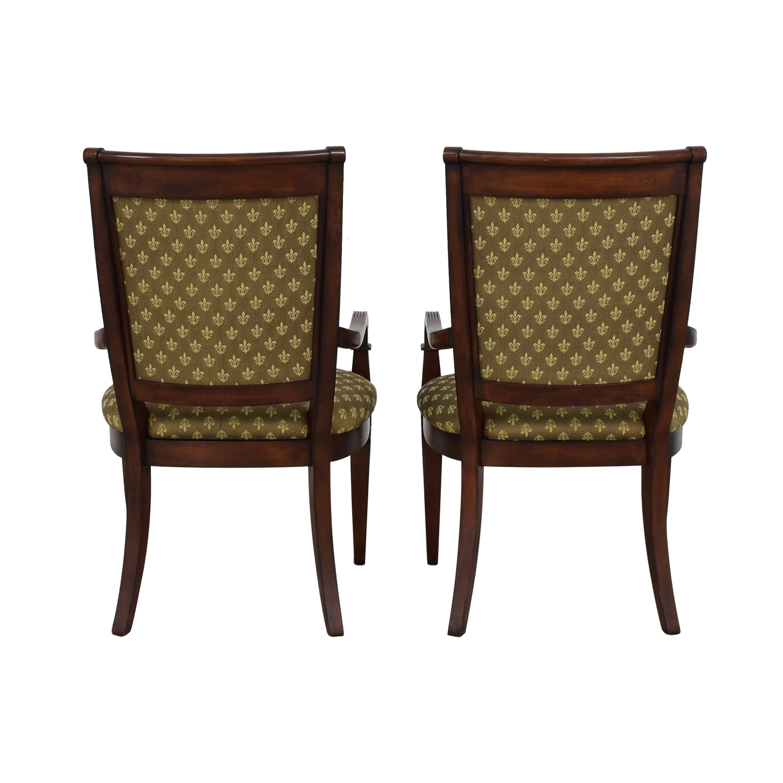 Bassett Furniture Bassett Furniture Upholstered Dining Arm Chairs coupon