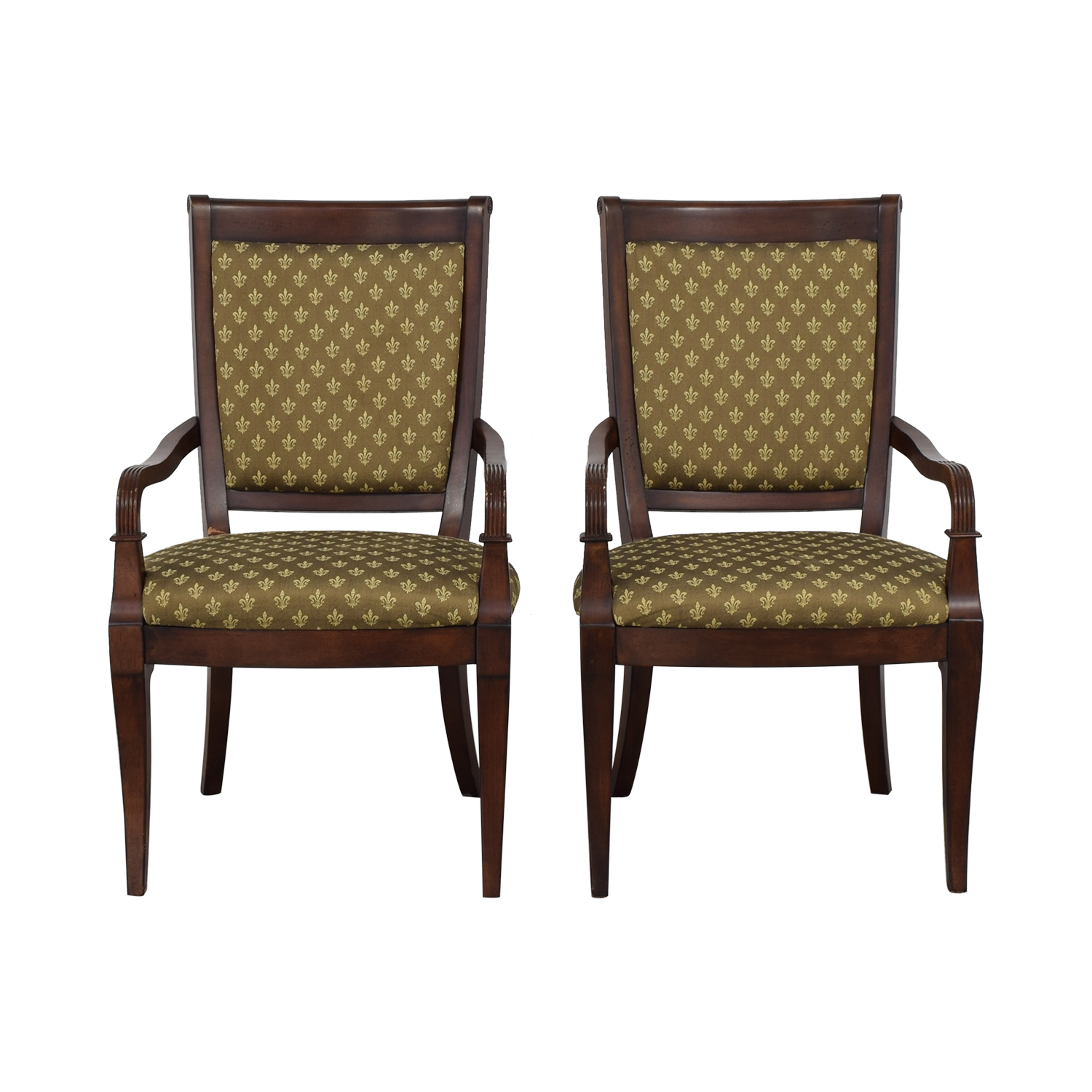 Bassett Furniture Bassett Furniture Upholstered Dining Arm Chairs dimensions