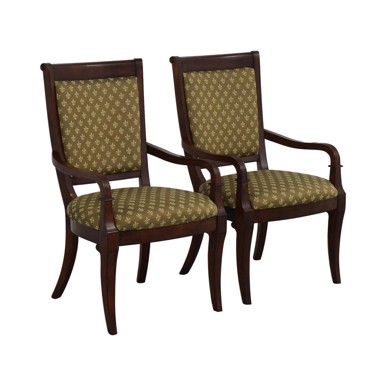 Bassett Furniture Bassett Furniture Upholstered Dining Arm Chairs nj