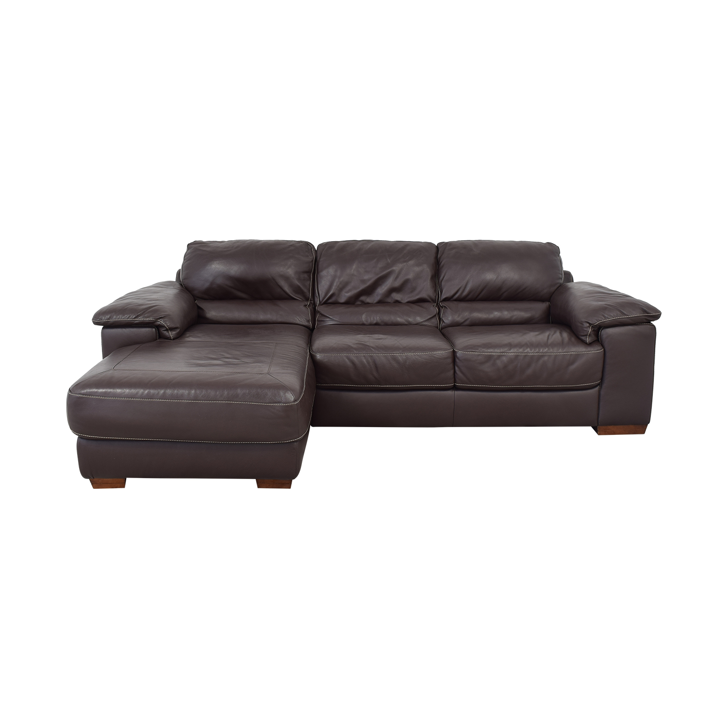 Cindy Crawford Home Cindy Crawford Home Maglie Sectional Sofa dark brown