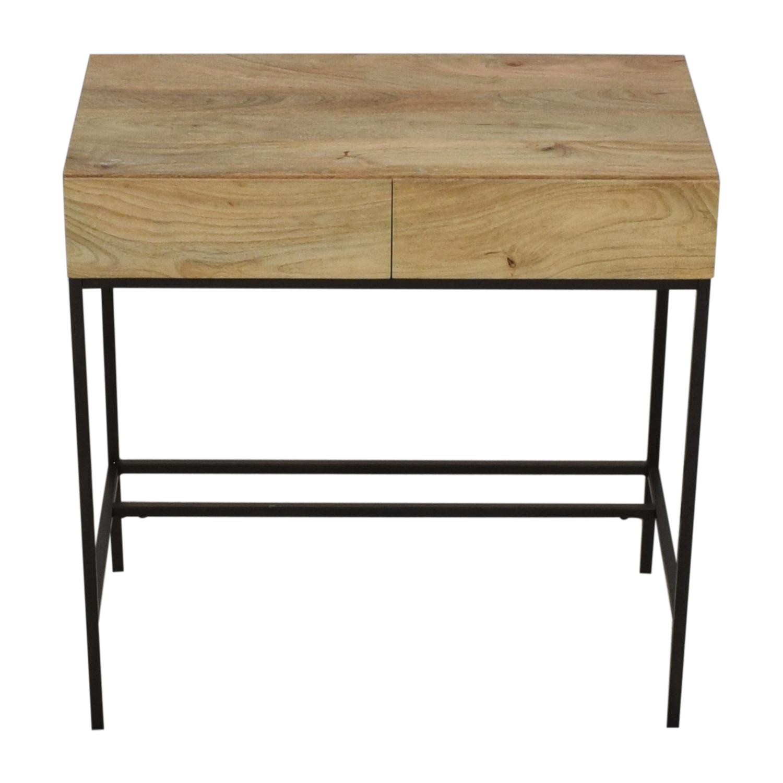 West Elm West Elm Industrial Storage Mini Desk tan and black