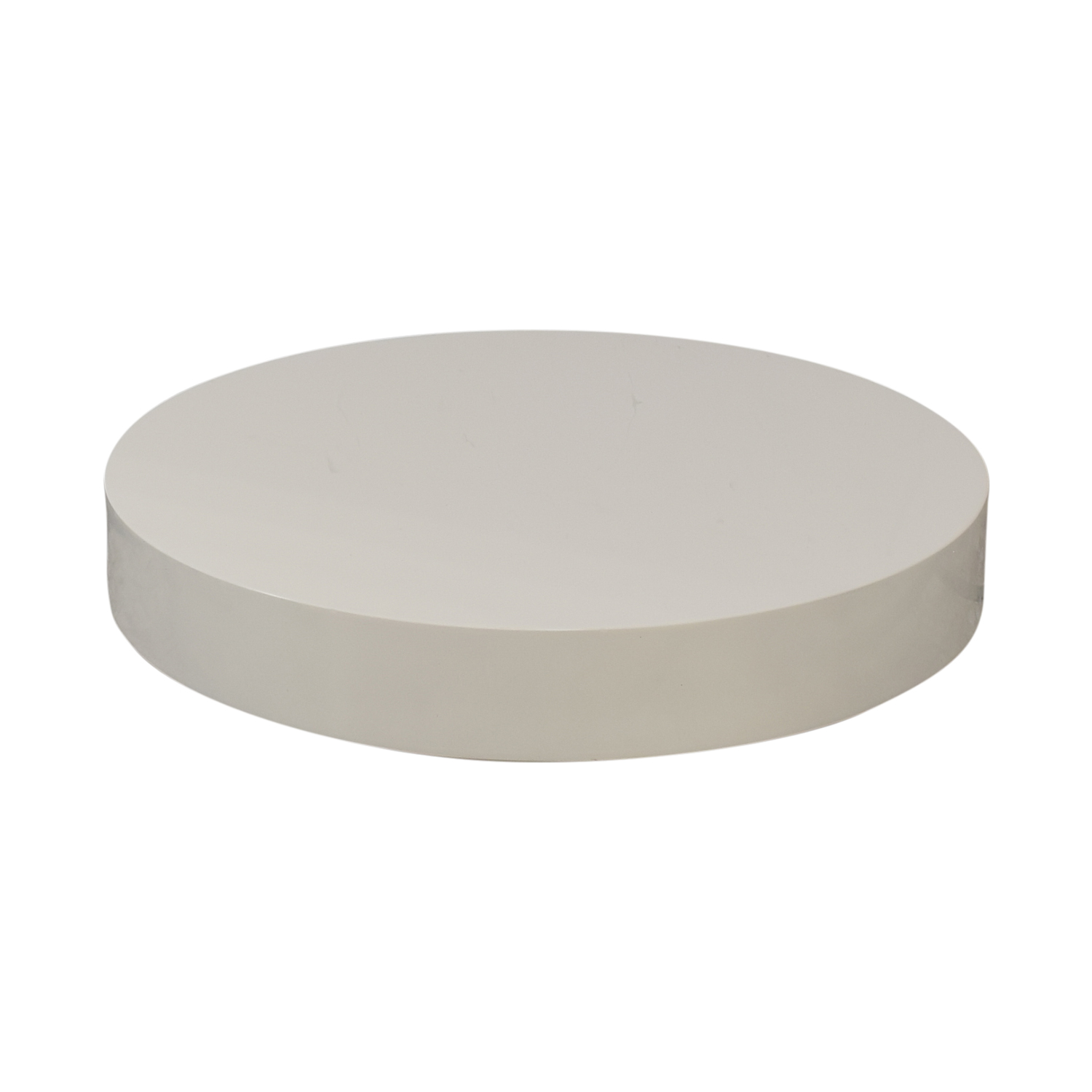 72% OFF - Large Round Italian Maker Coffee Table / Tables