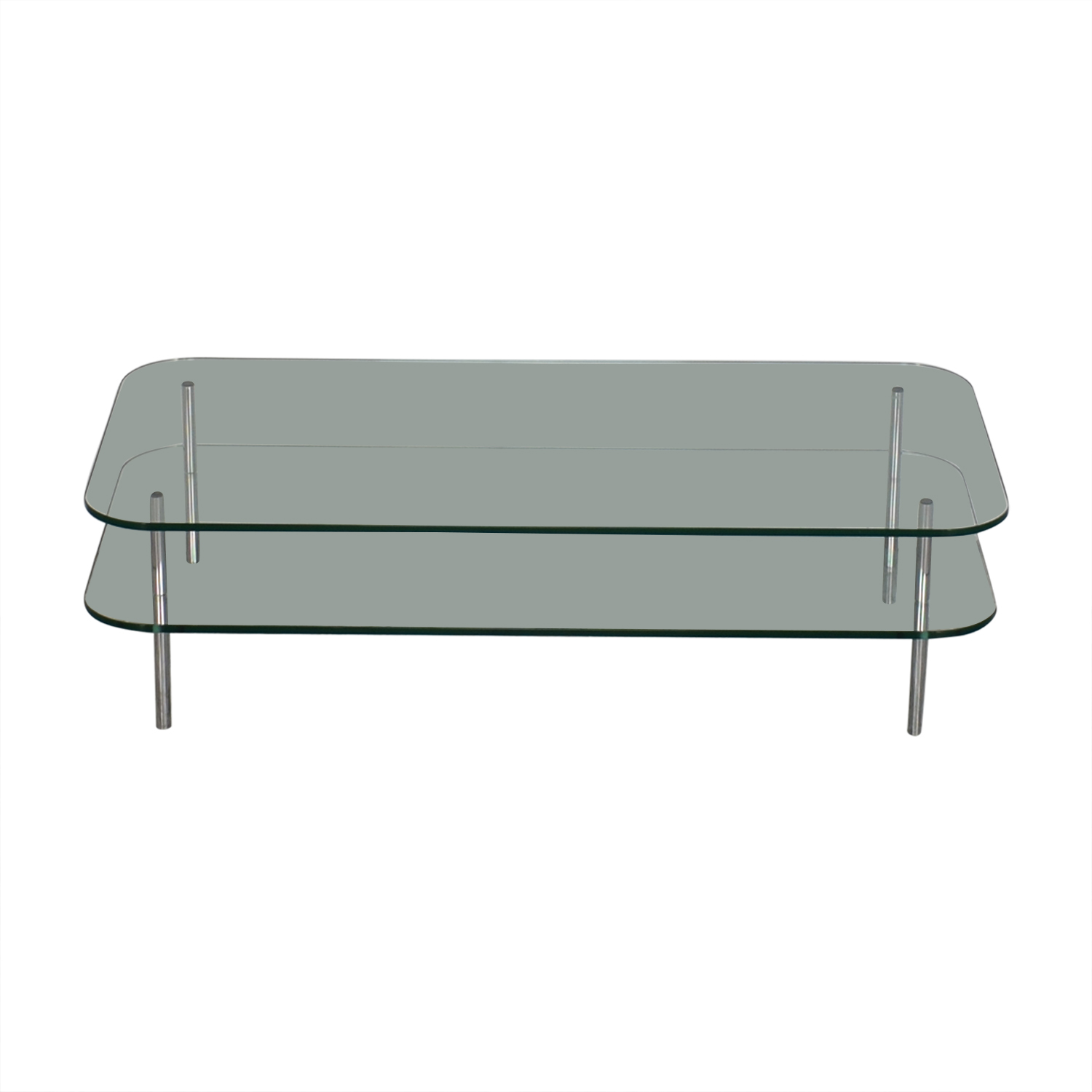 The Conran Shop Two Level Glass Coffee Table / Tables
