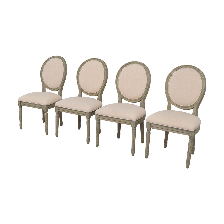 Joss & Main Joss & Main Chestertown Upholstered Dining Chairs grey & beige