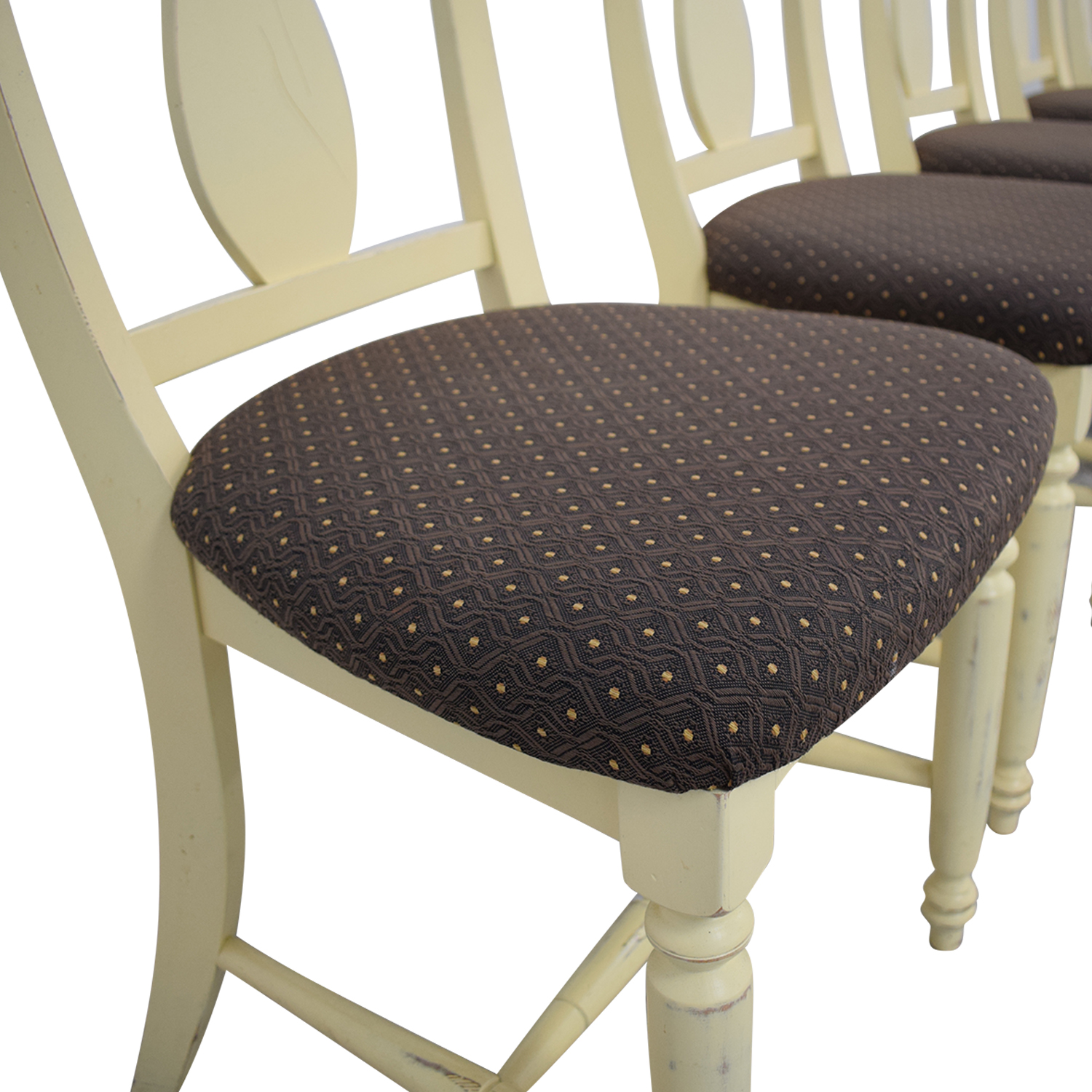 Canadel Furniture Upholstered Dining Chairs off white and dark brown