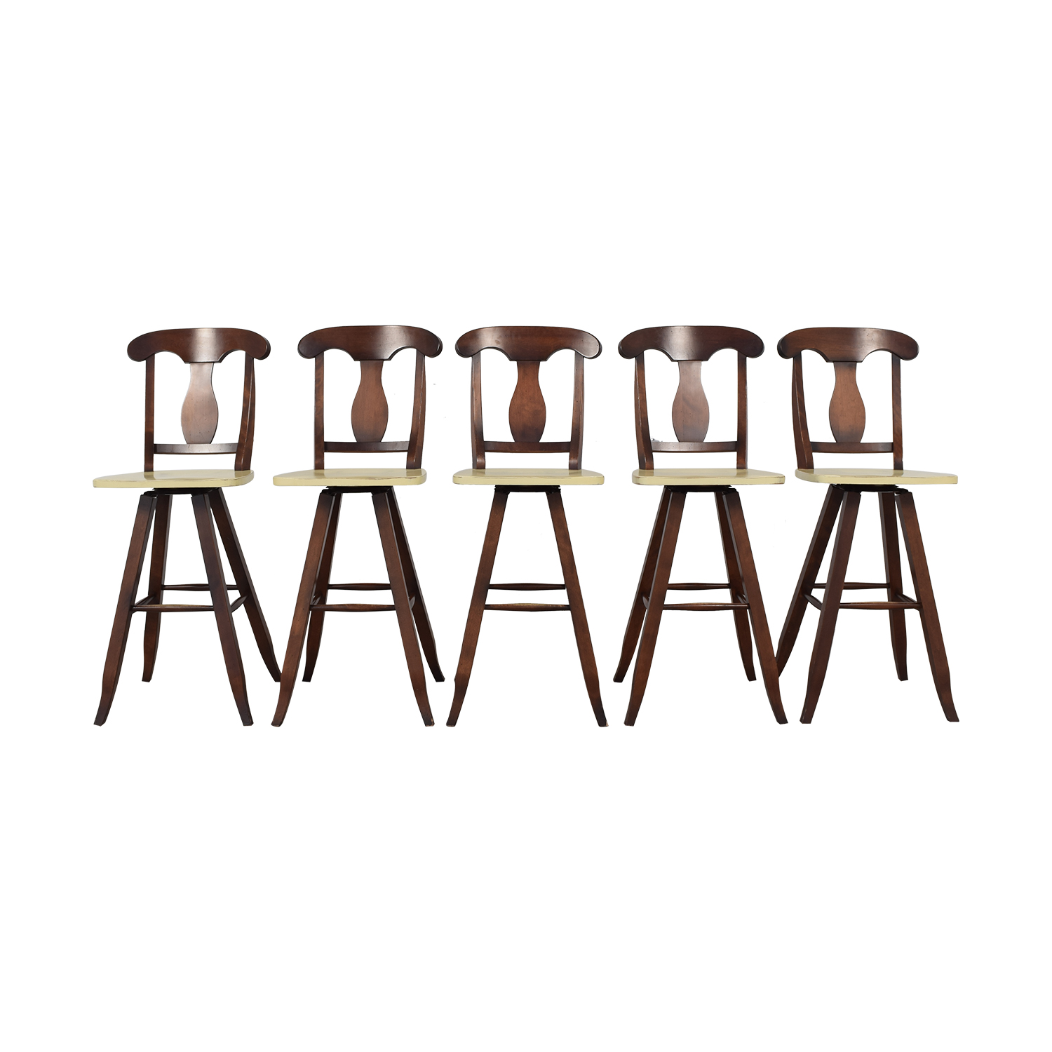Traditional Swivel Stools beige & brown