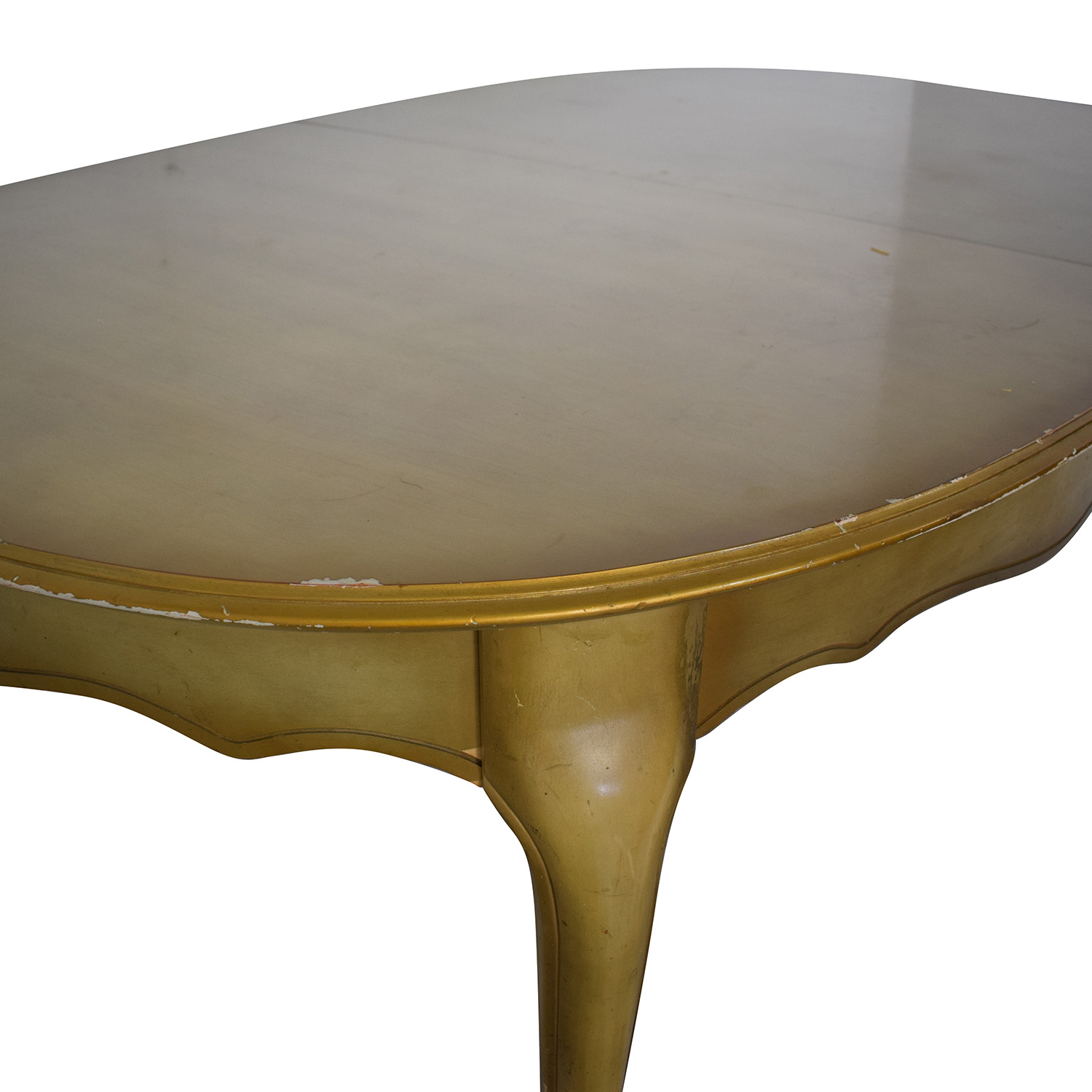 Oval Dining Table with Center Leaf beige