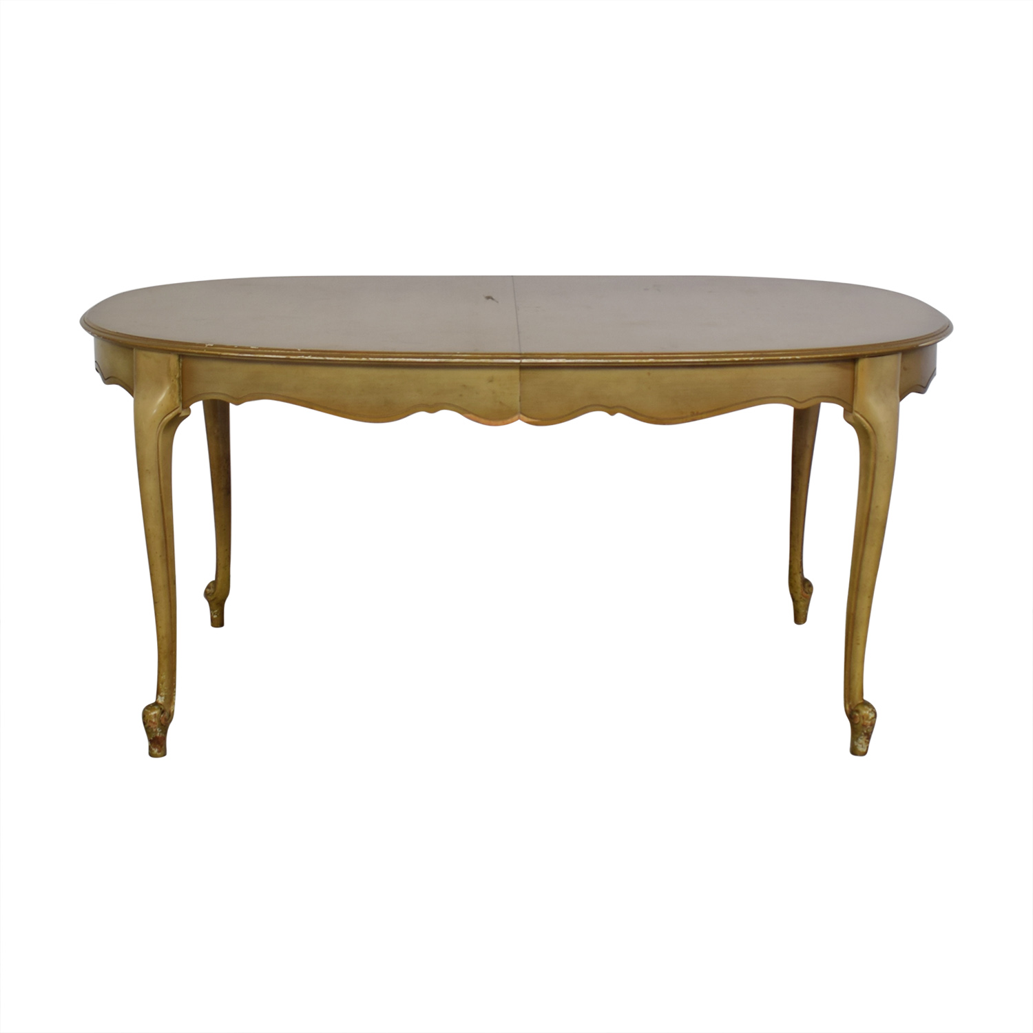 Oval Dining Table with Center Leaf used