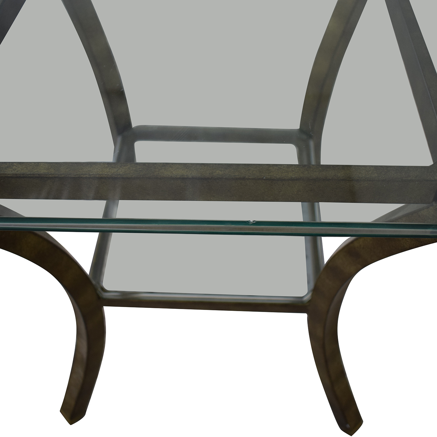 Fortunoff Fortunoff Glass End Table nj