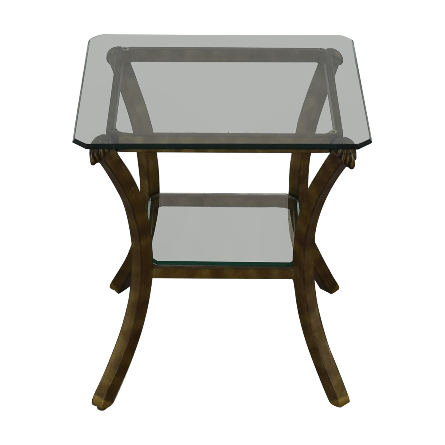 Fortunoff Glass End Table / End Tables