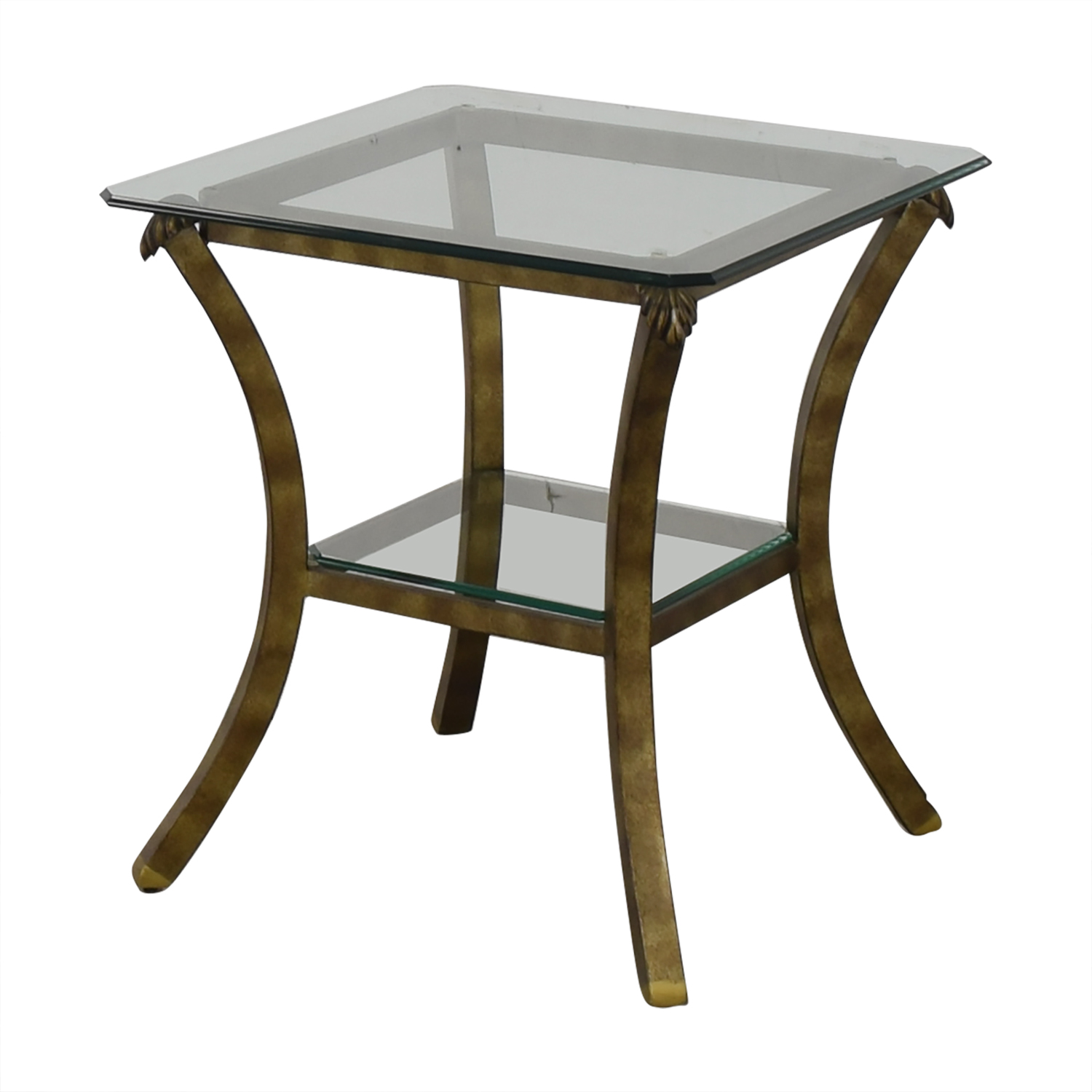 Fortunoff Glass End Table sale