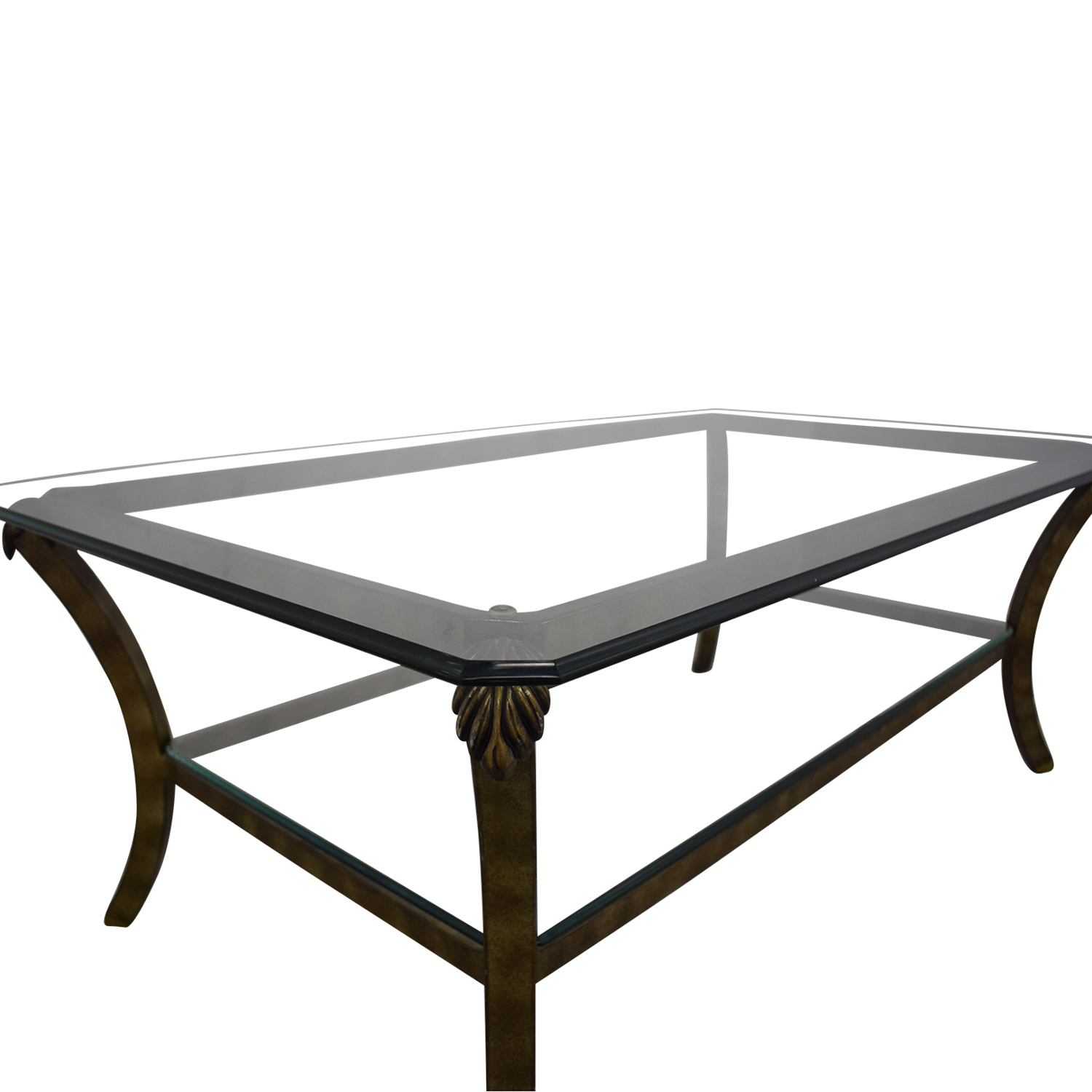 Fortunoff Fortunoff Glass Coffee Table dimensions