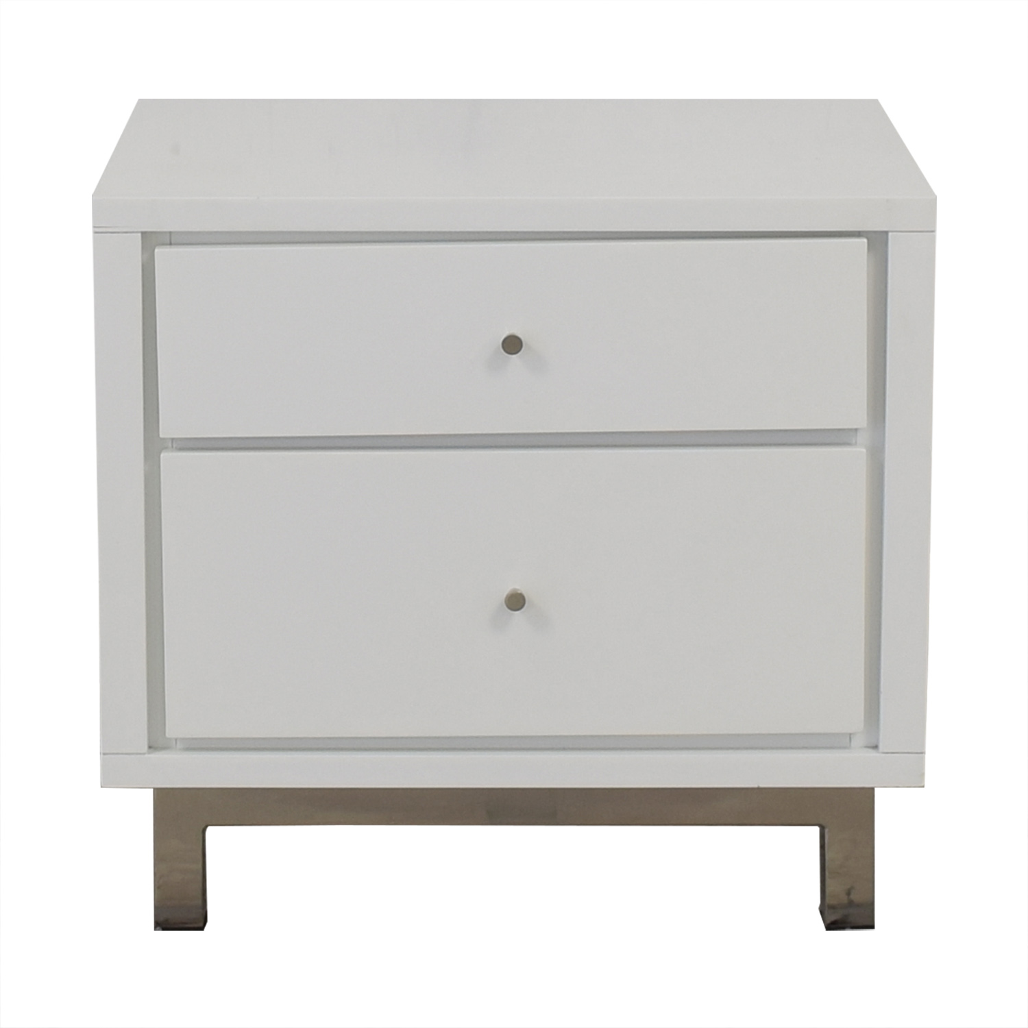 Crate & Barrel Two Drawer Nightstand sale