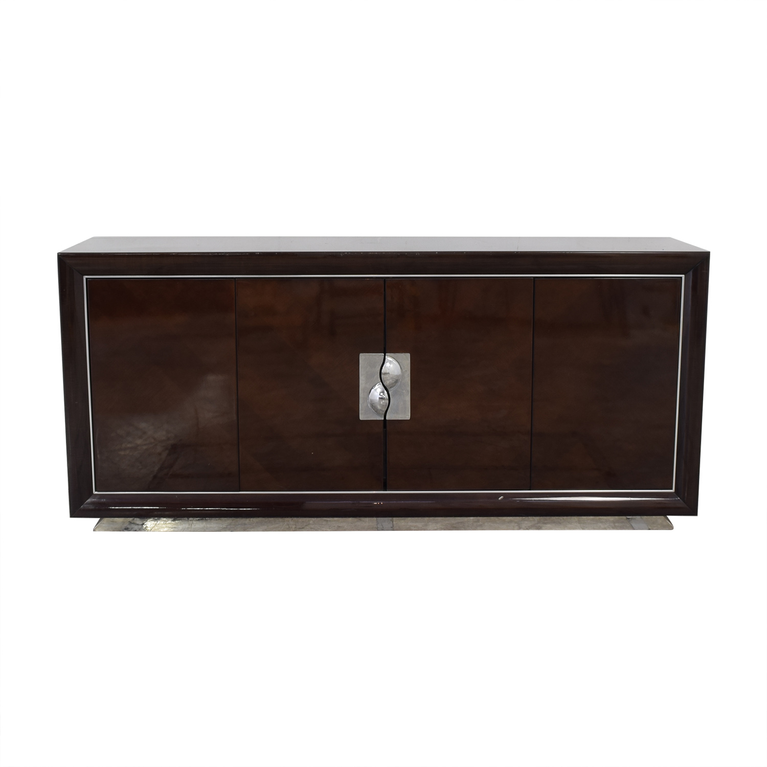 Elio Elio Modern Art Deco Credenza dark brown