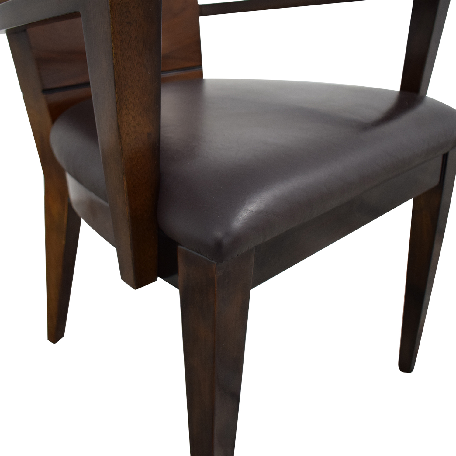Elio High Gloss Wood and Leather Chair for sale