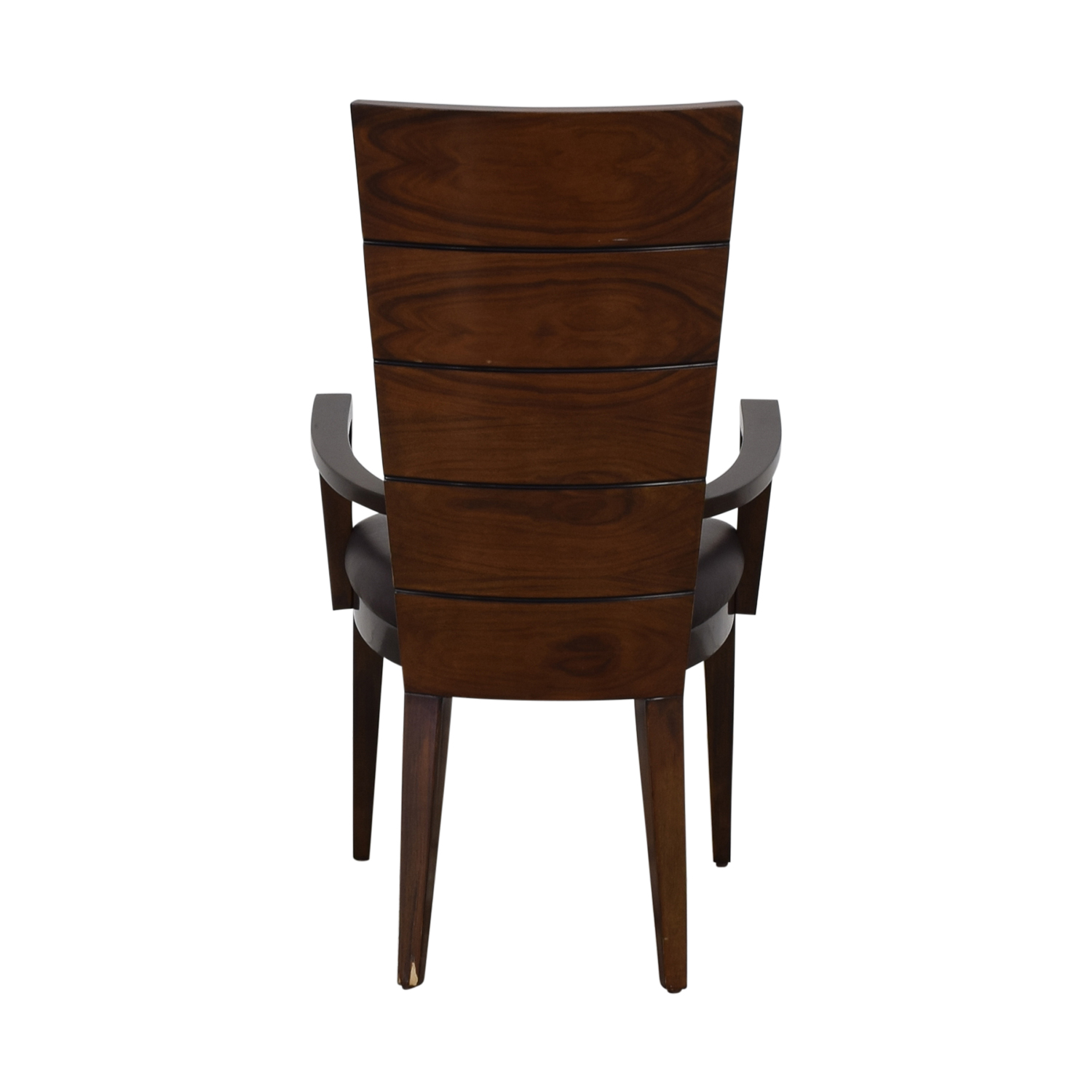 buy High Gloss Wood and Leather Chair Elio