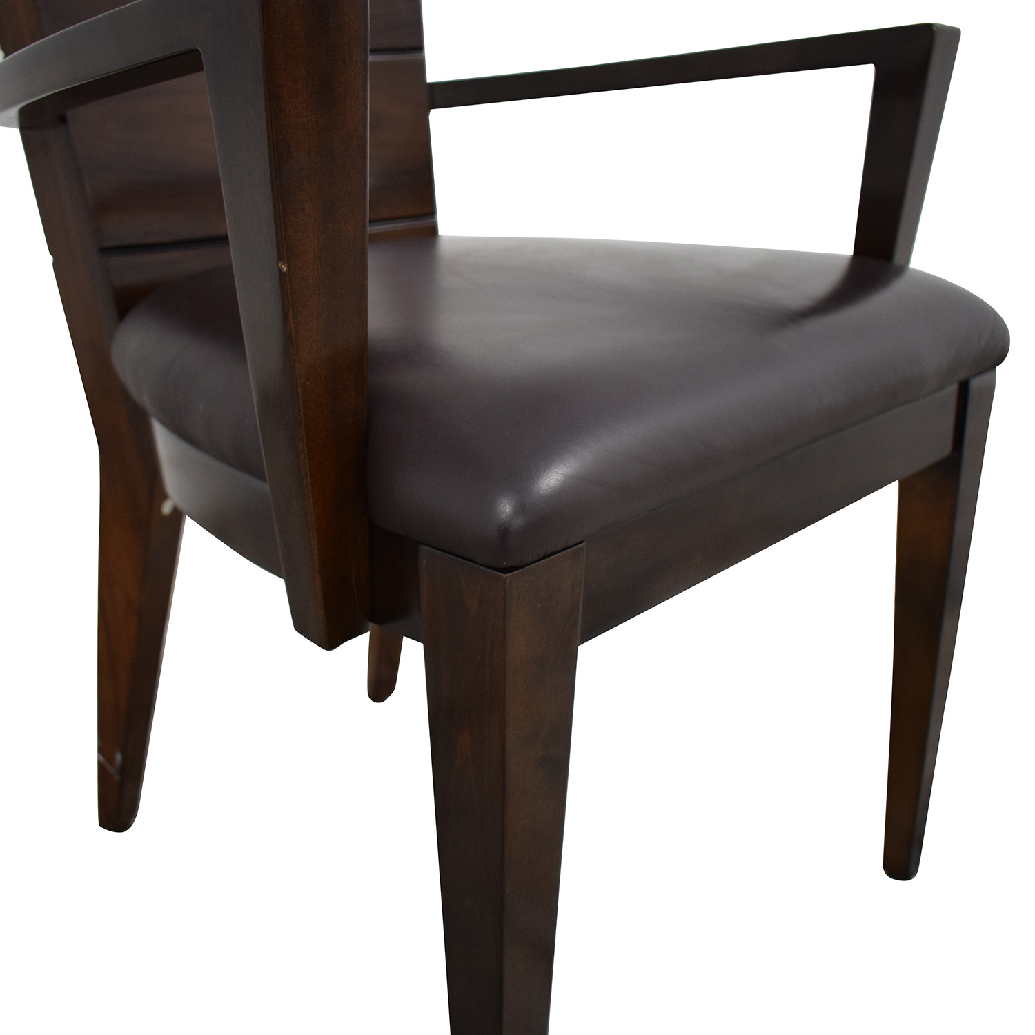 Elio Elio High Gloss Wood and Leather Chair Chairs