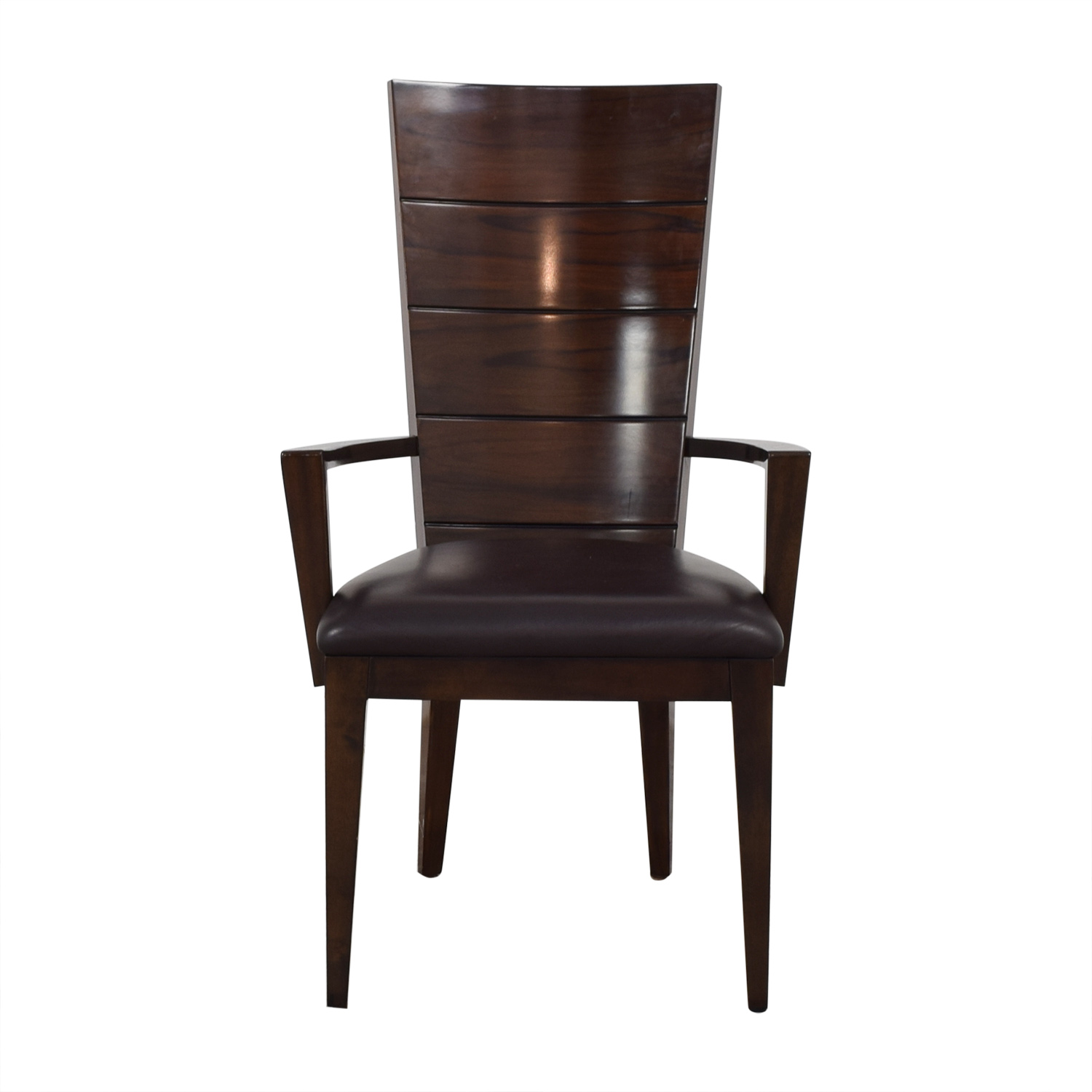 buy Elio Elio High Gloss Wood and Leather Chair online