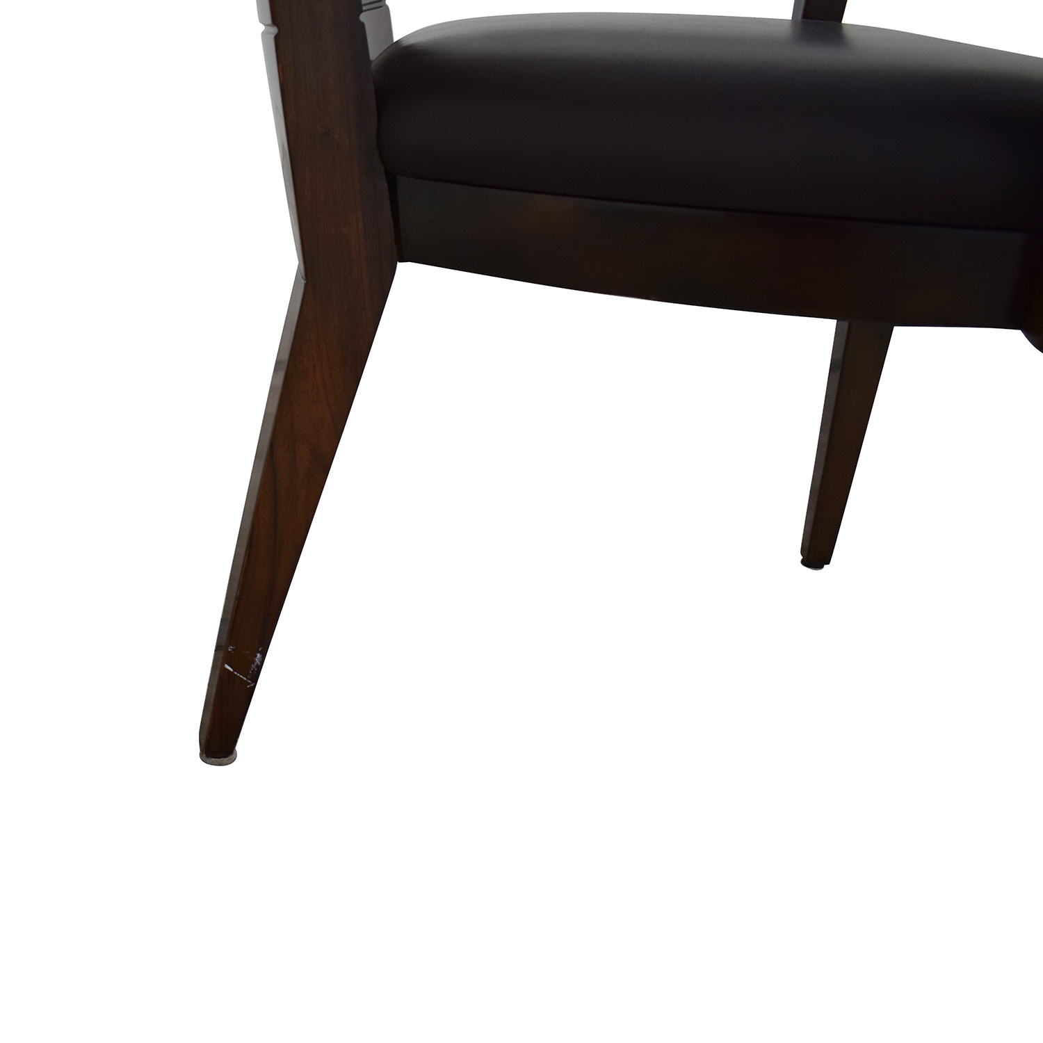 Elio High Gloss Wood and Leather Chair / Dining Chairs