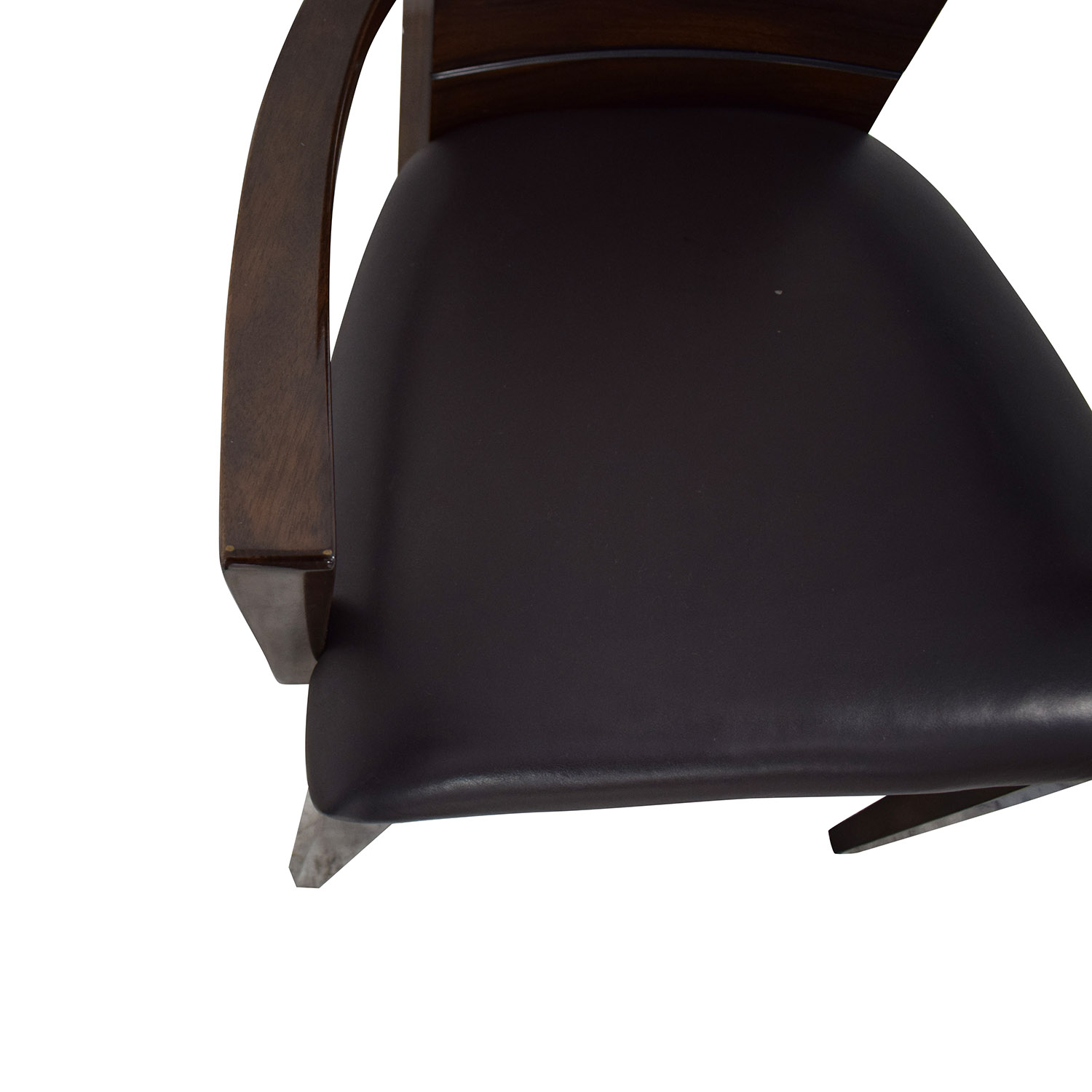 Elio High Gloss Wood and Leather Chair / Chairs