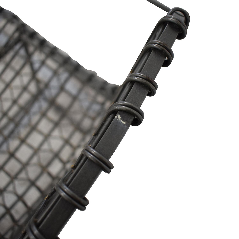 Crate & Barrel Crate & Barrel Tig Metal Counter Stools grey