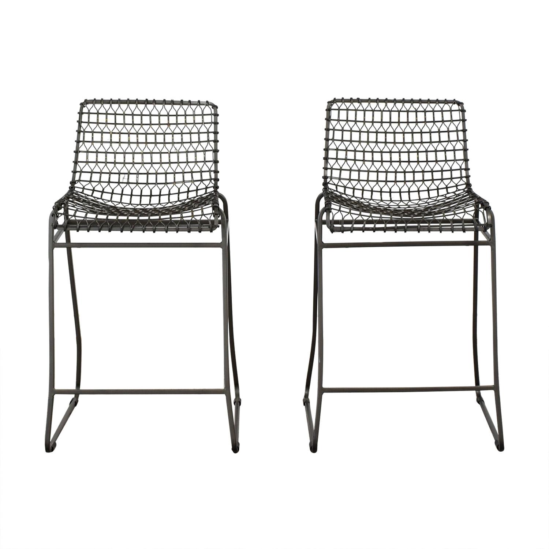 shop Crate & Barrel Tig Metal Counter Stools Crate & Barrel Chairs