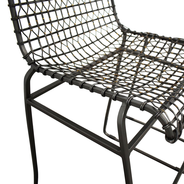 buy Crate & Barrel Tig Metal Counter Stools Crate & Barrel Chairs