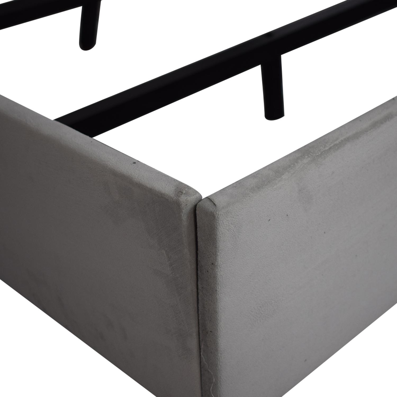 Skyline Furniture Skyline Upholstered Tufted Wingback King Bed Frame price