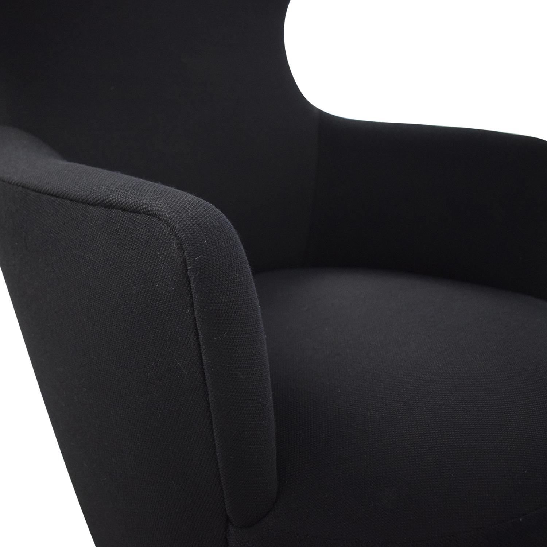 Tom Dixon Tom Dixon Wingback Black Leg Hallingdal 65 Chair for sale