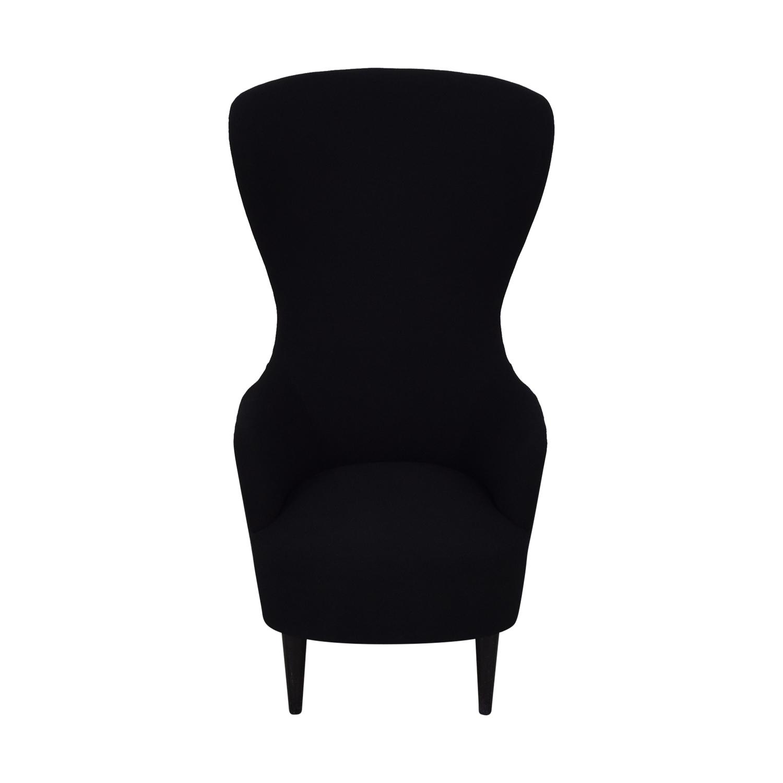 buy Tom Dixon Tom Dixon Wingback Black Leg Hallingdal 65 Chair online